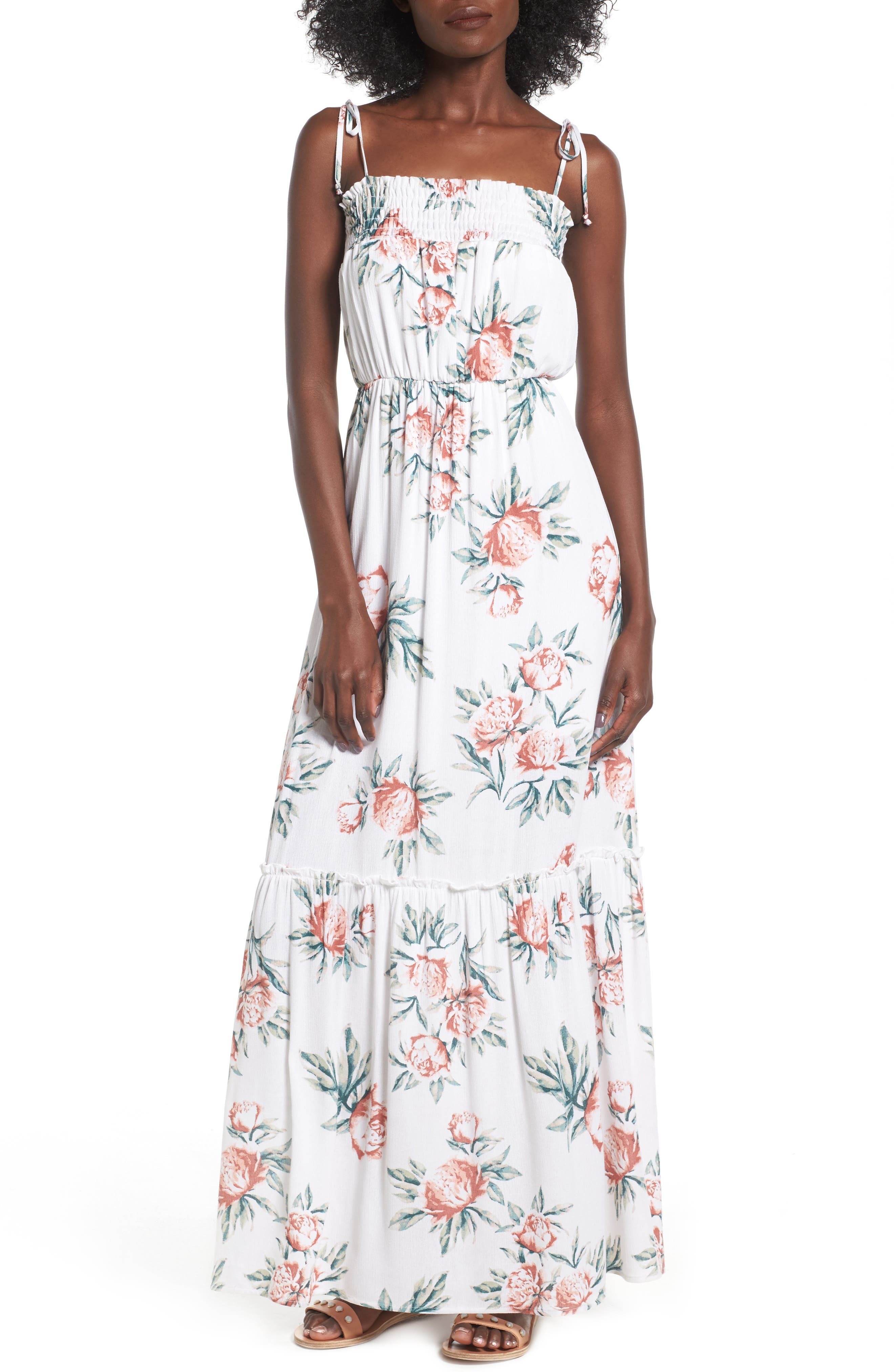 Dee Elly Floral Print Maxi Dress