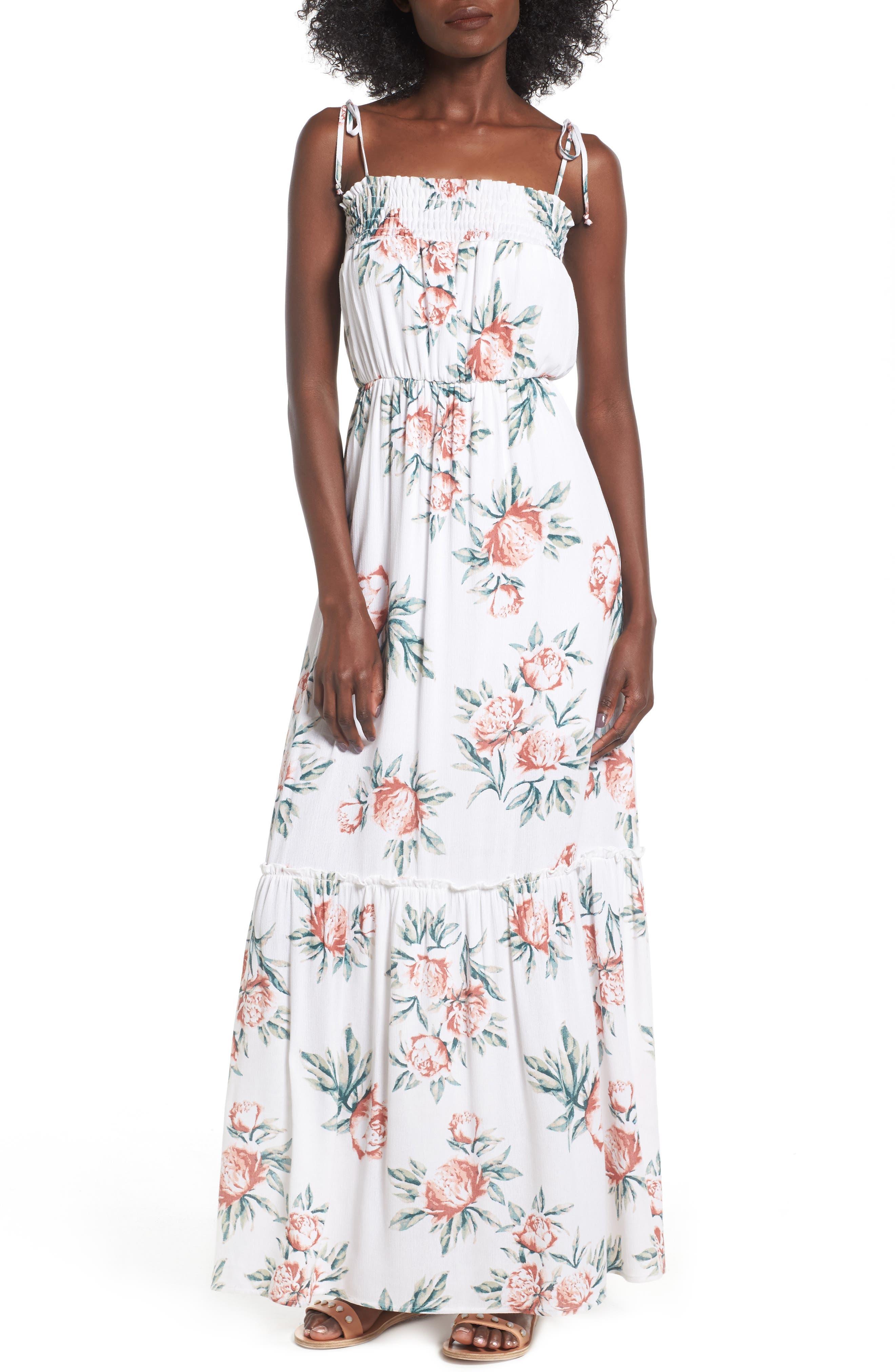 Dee Elly Floral Print Maxi Dress