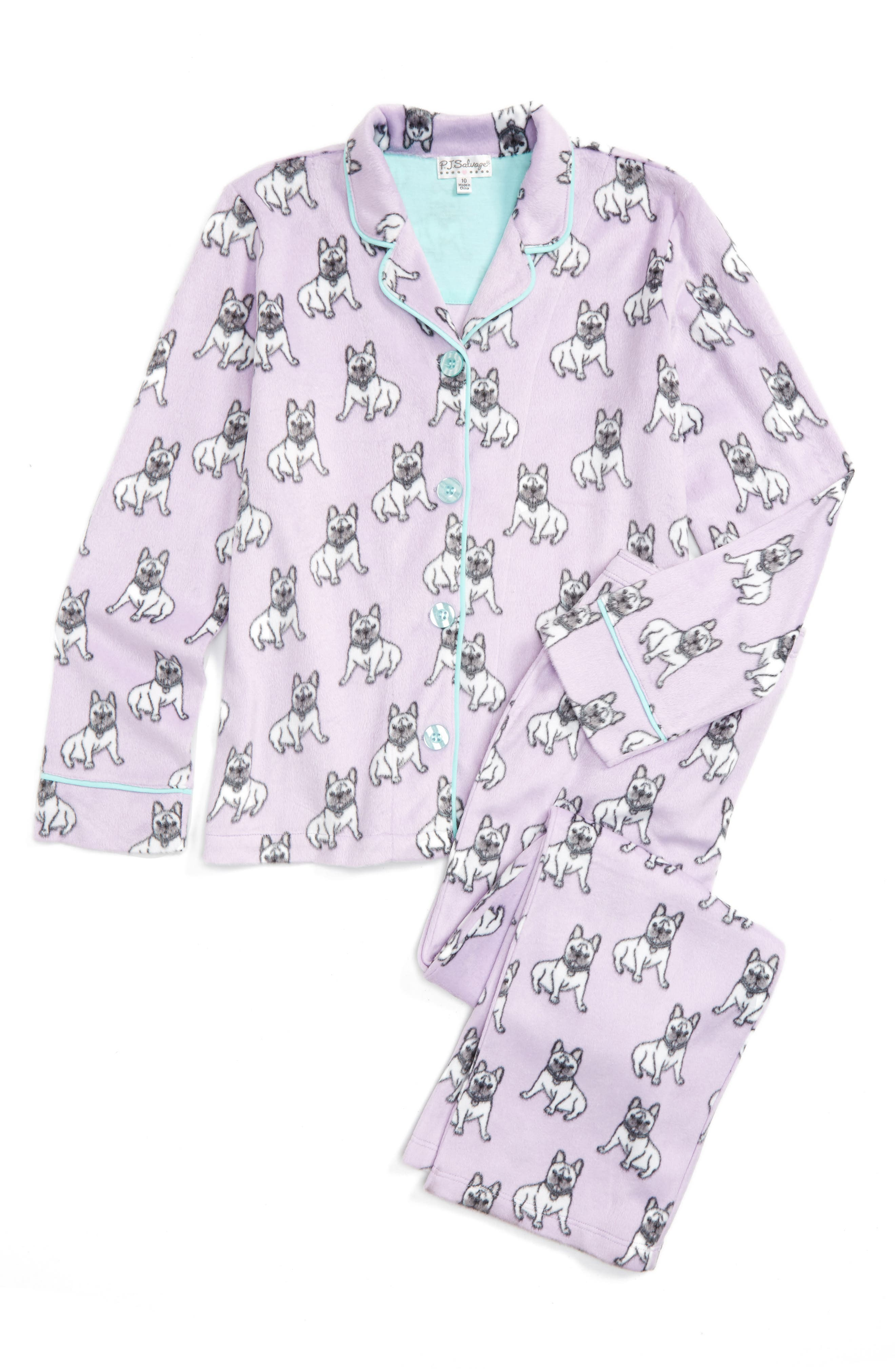 PJ Salvage Two-Piece Fleece Pajamas (Big Girls)
