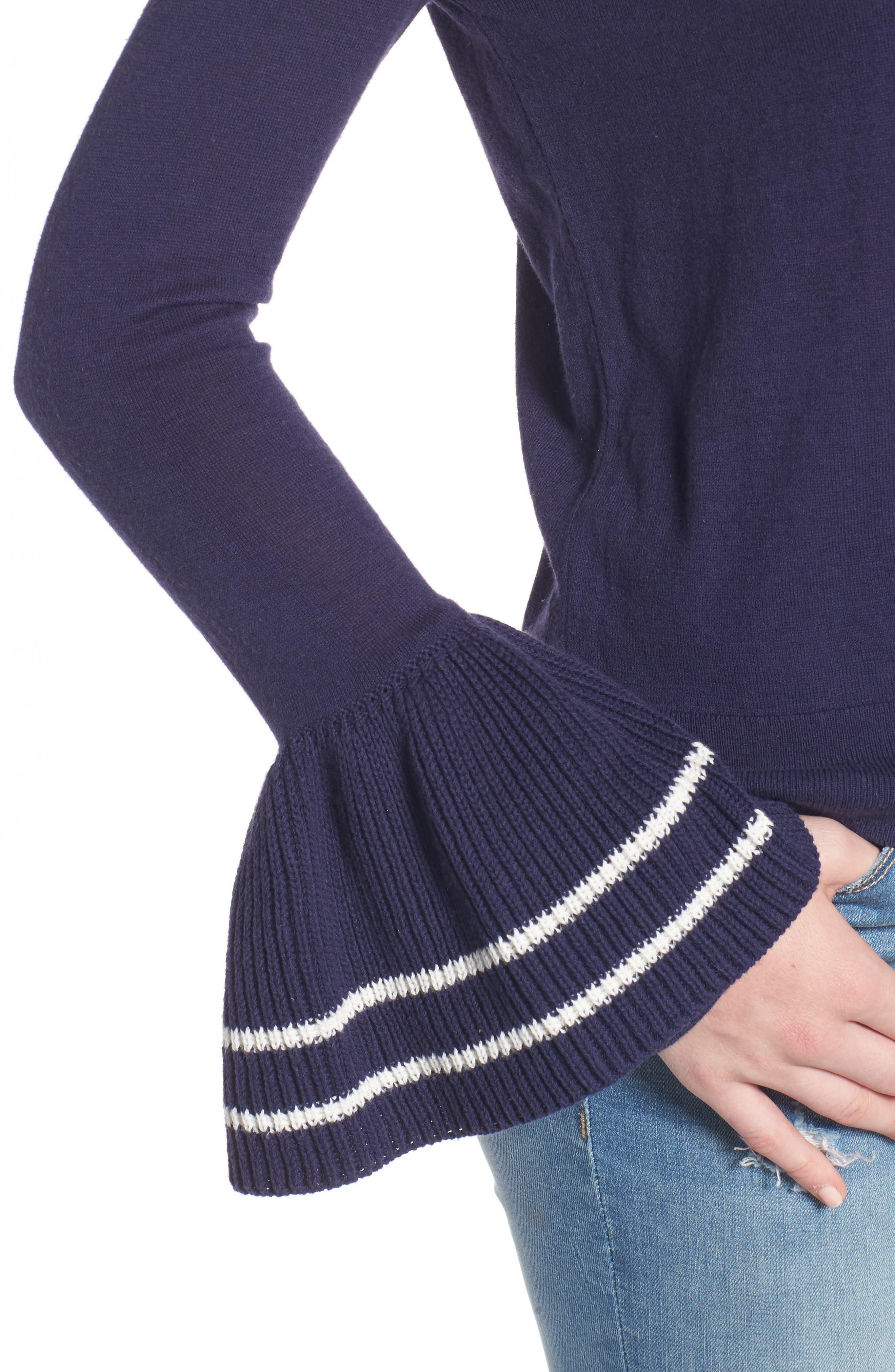 Alternate Image 4  - BP. Ruffle Bell Cuff Sweater