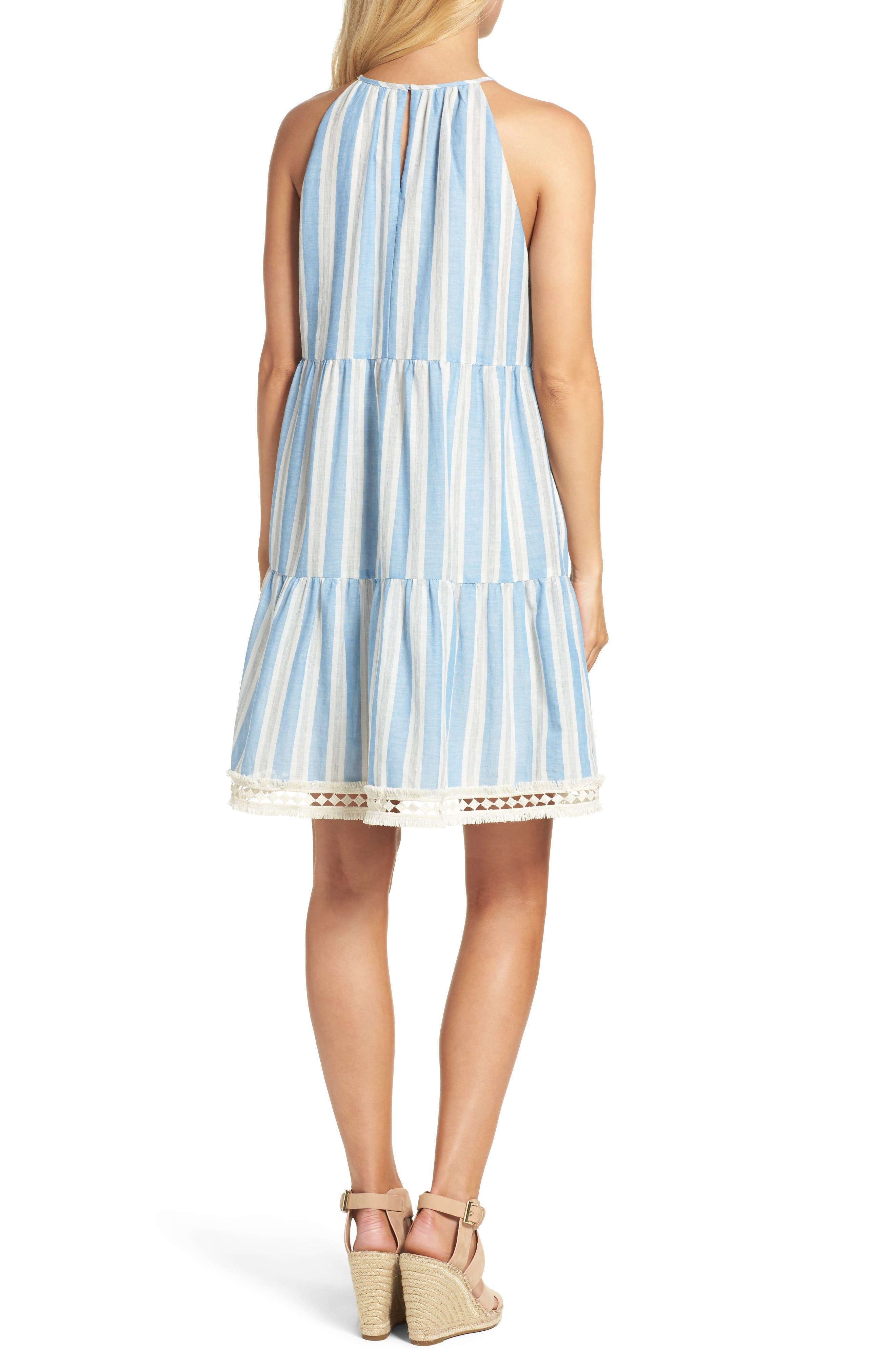 Alternate Image 2  - Maggy London Stripe Shift Dress (Regular & Petite)