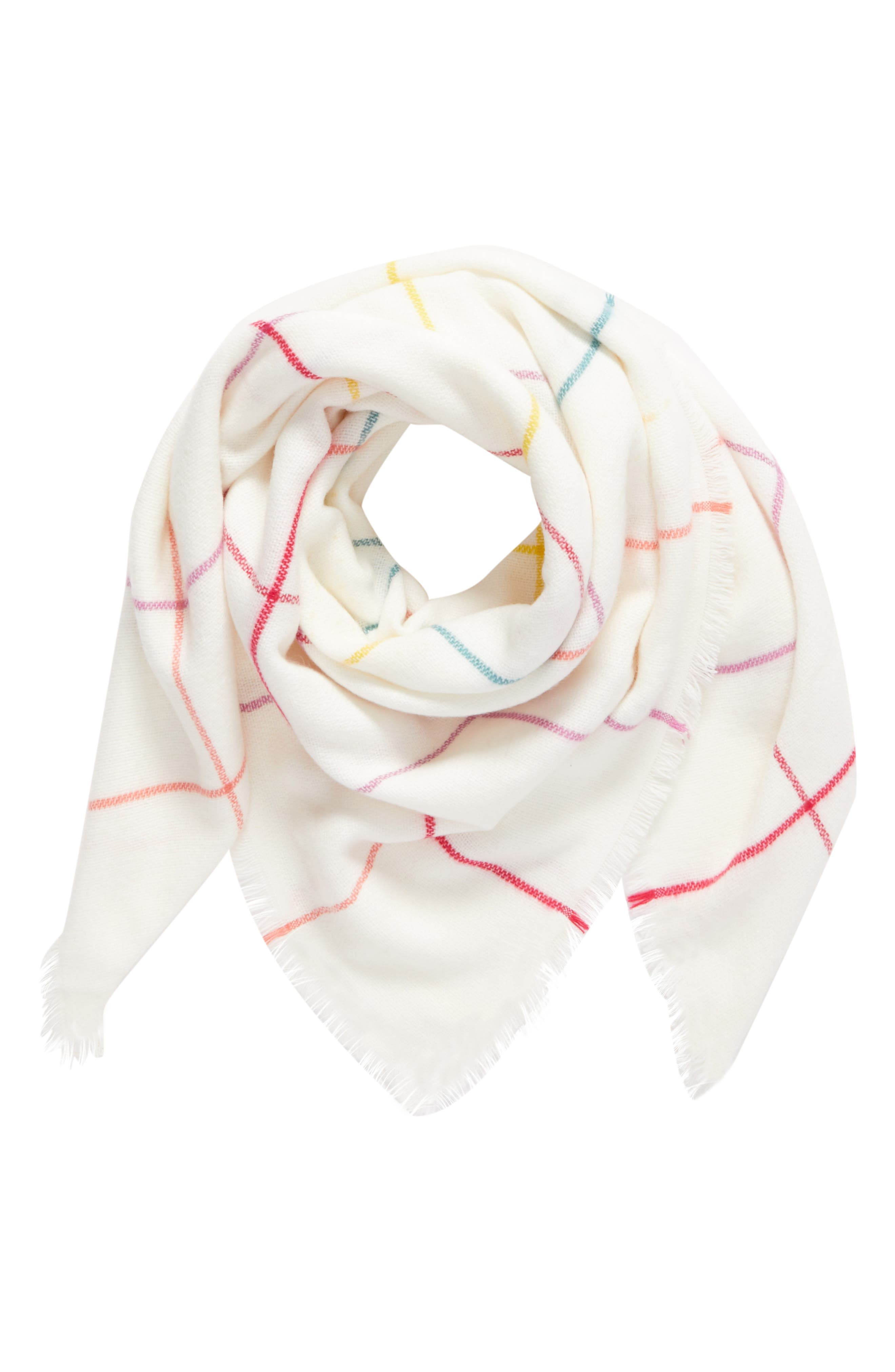 BP. Multicolor Grid Square Scarf
