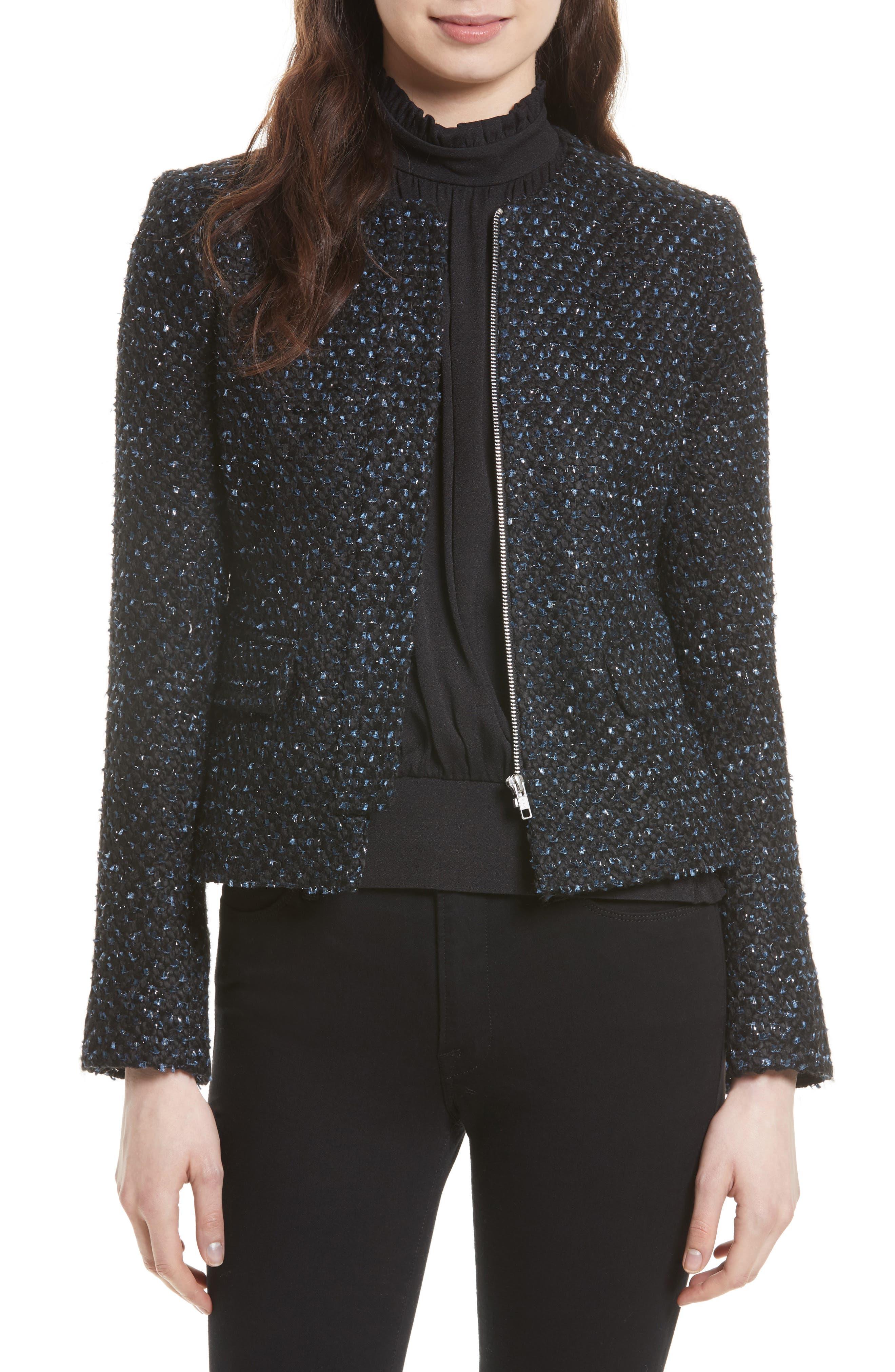 Helene Berman Ribbon Yarn Collarless Jacket