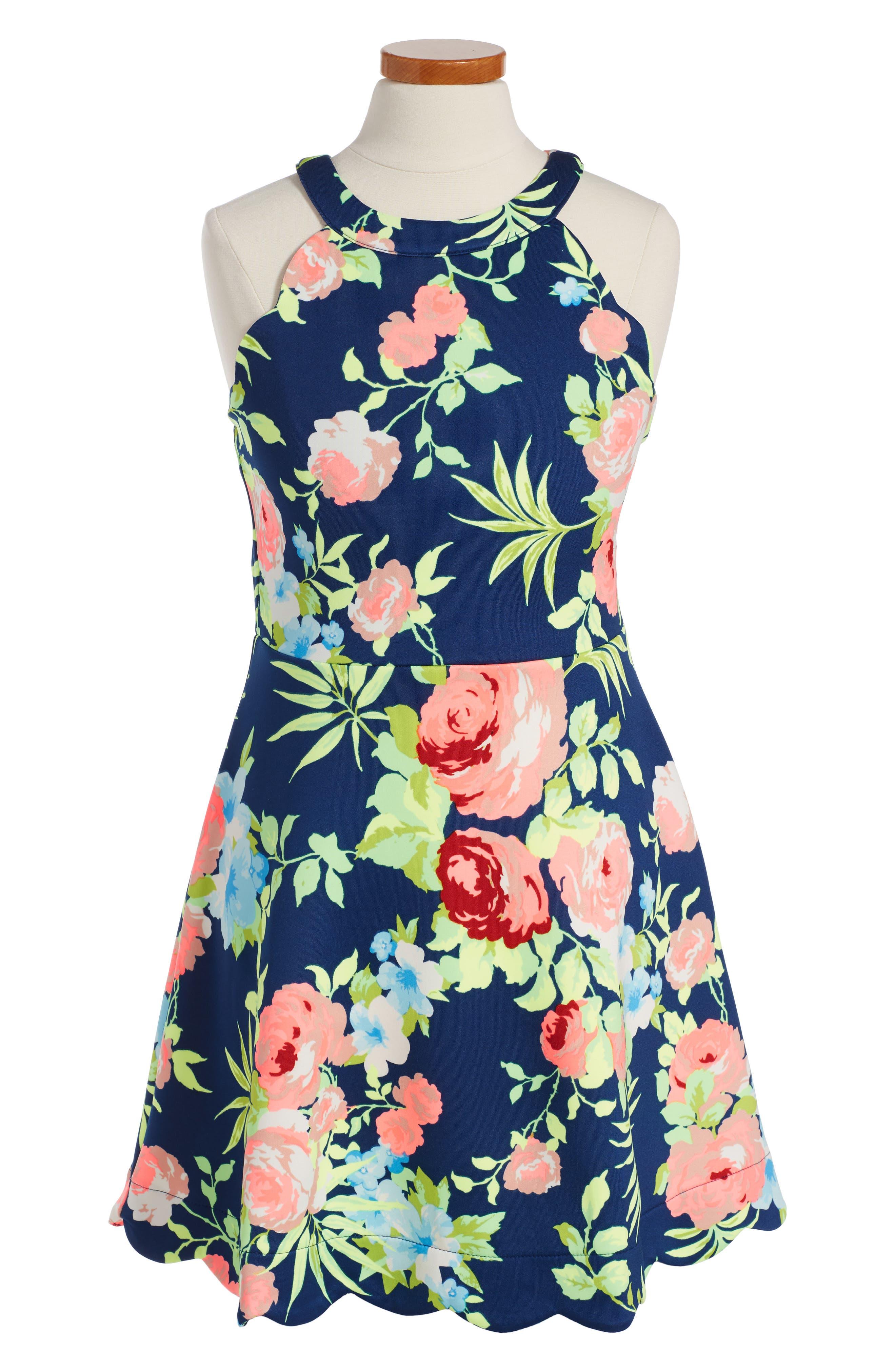 Monteau Couture Brightt Floral Sundress (Big Girls)
