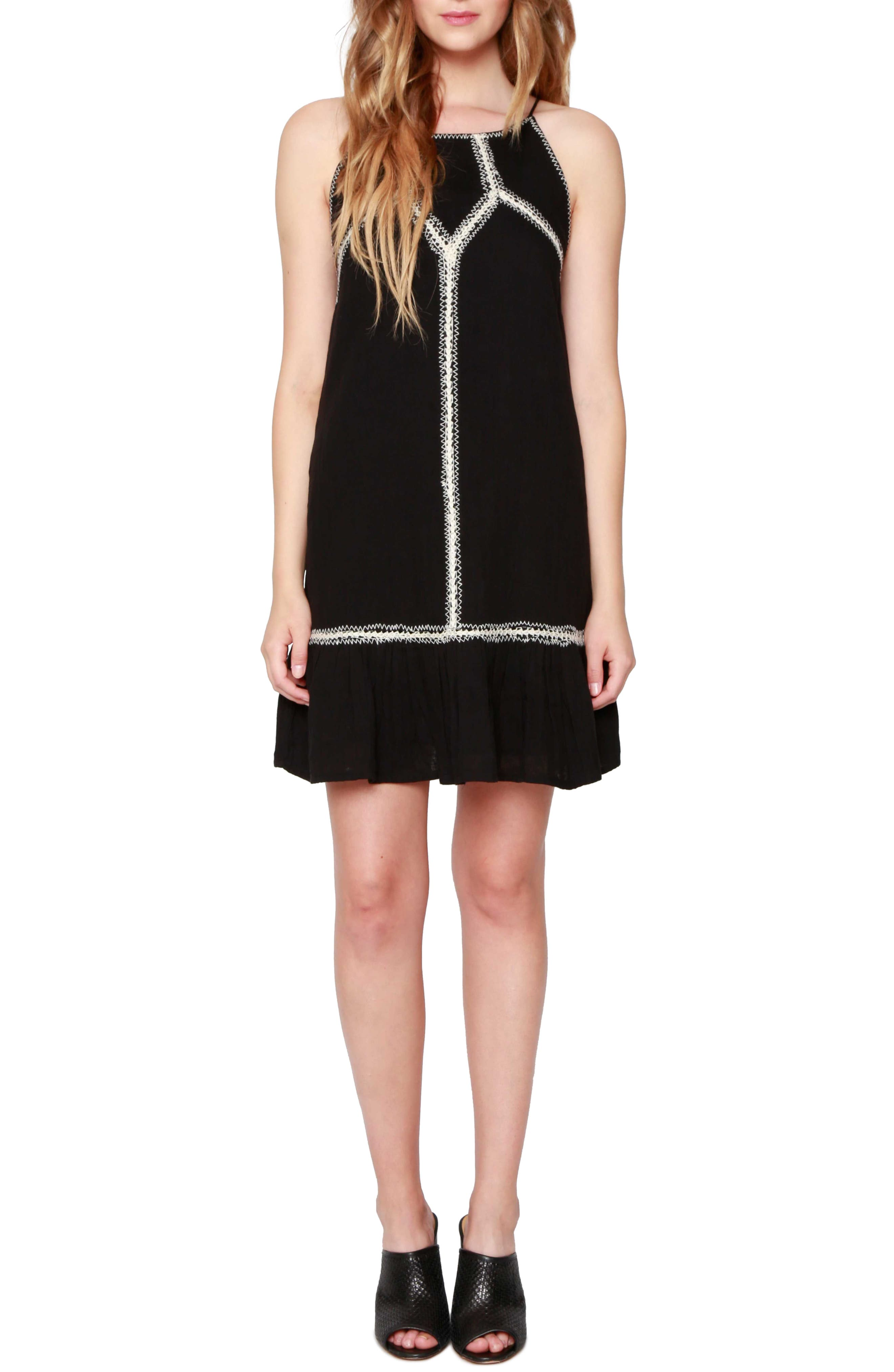 Willow & Clay Contrast Stitch Shift Dress