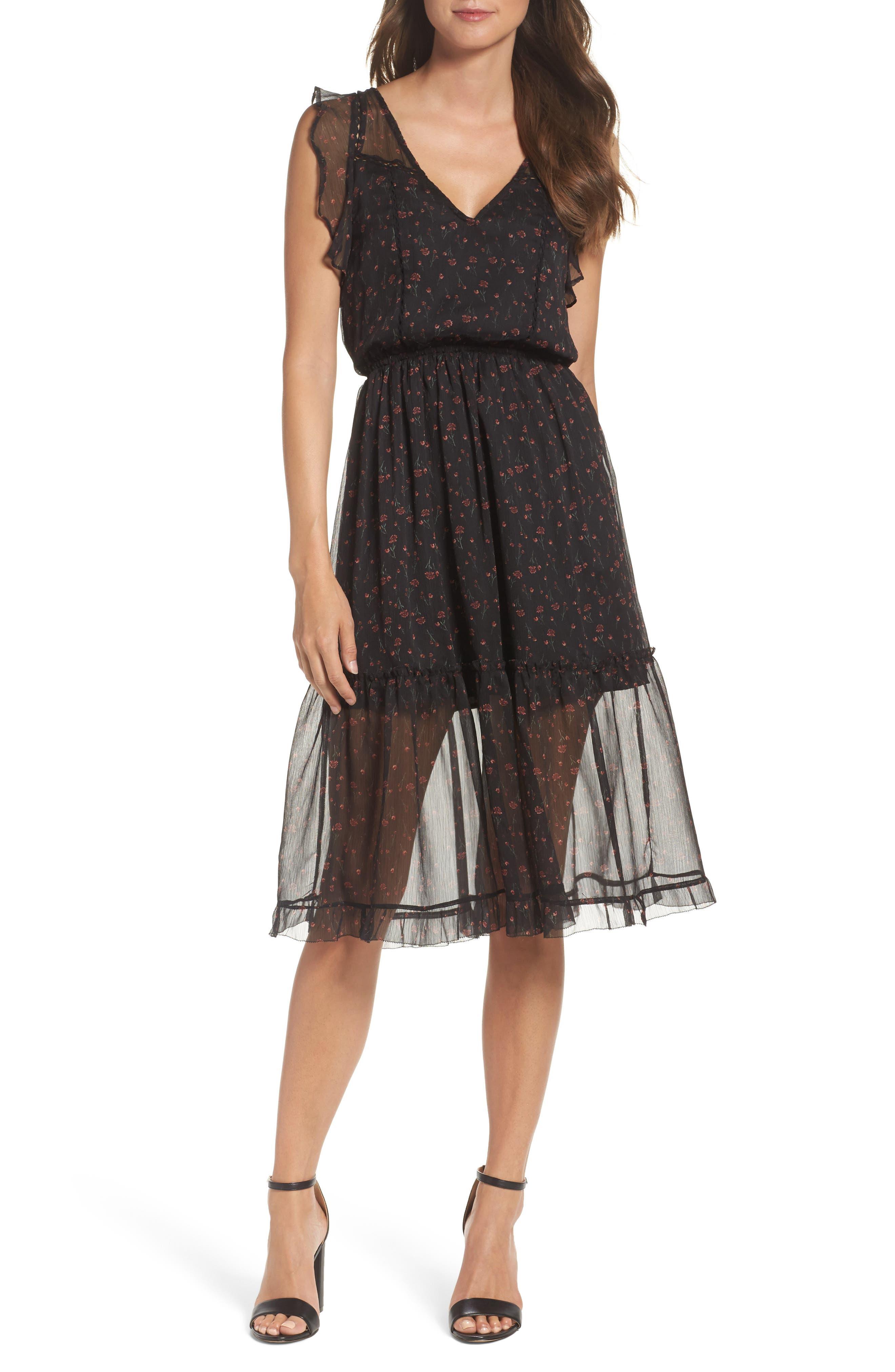BB Dakota Cal Flutter Sleeve Dress