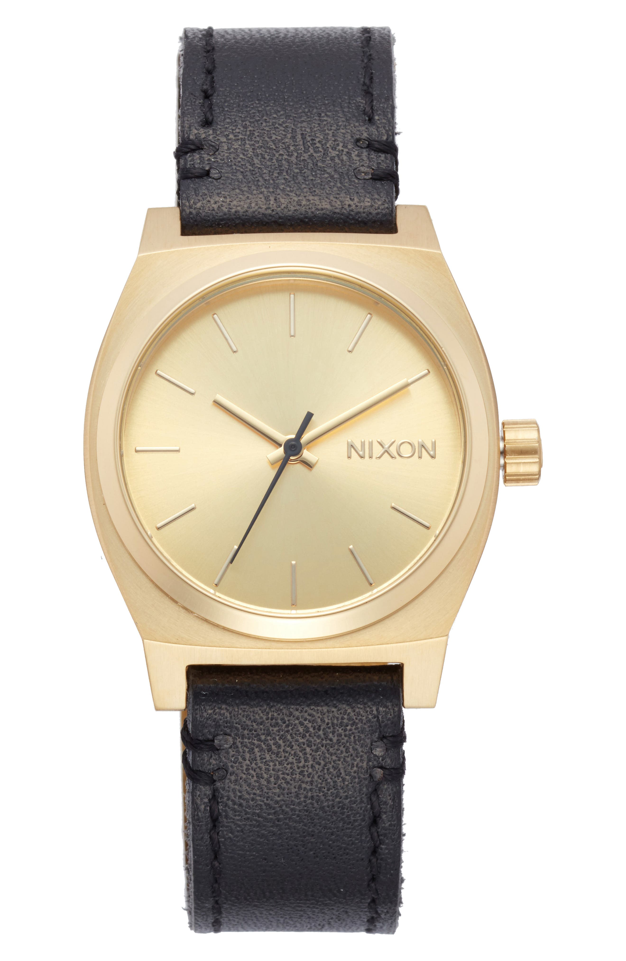 Nixon Medium Time Teller Leather Strap Watch, 31mm