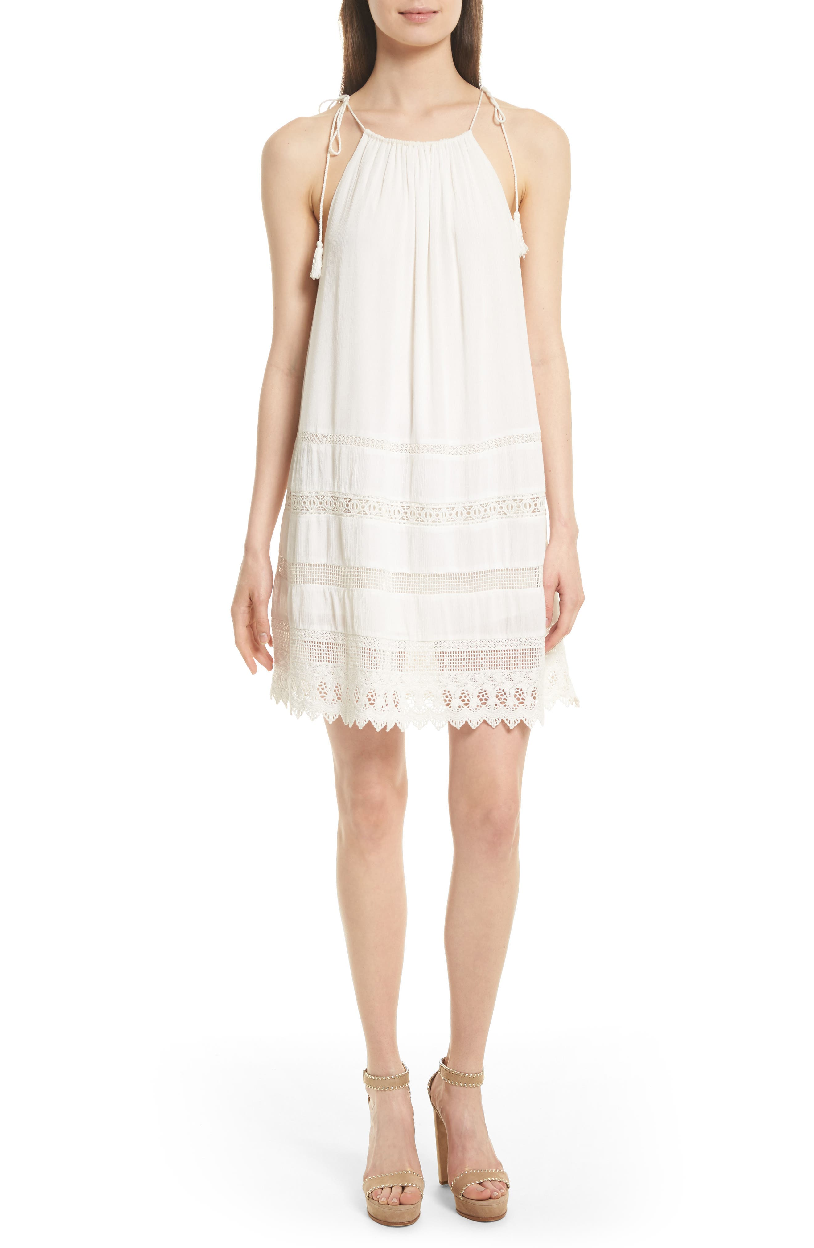 Alice + Olivia Danna Tie Strap A-Line Dress