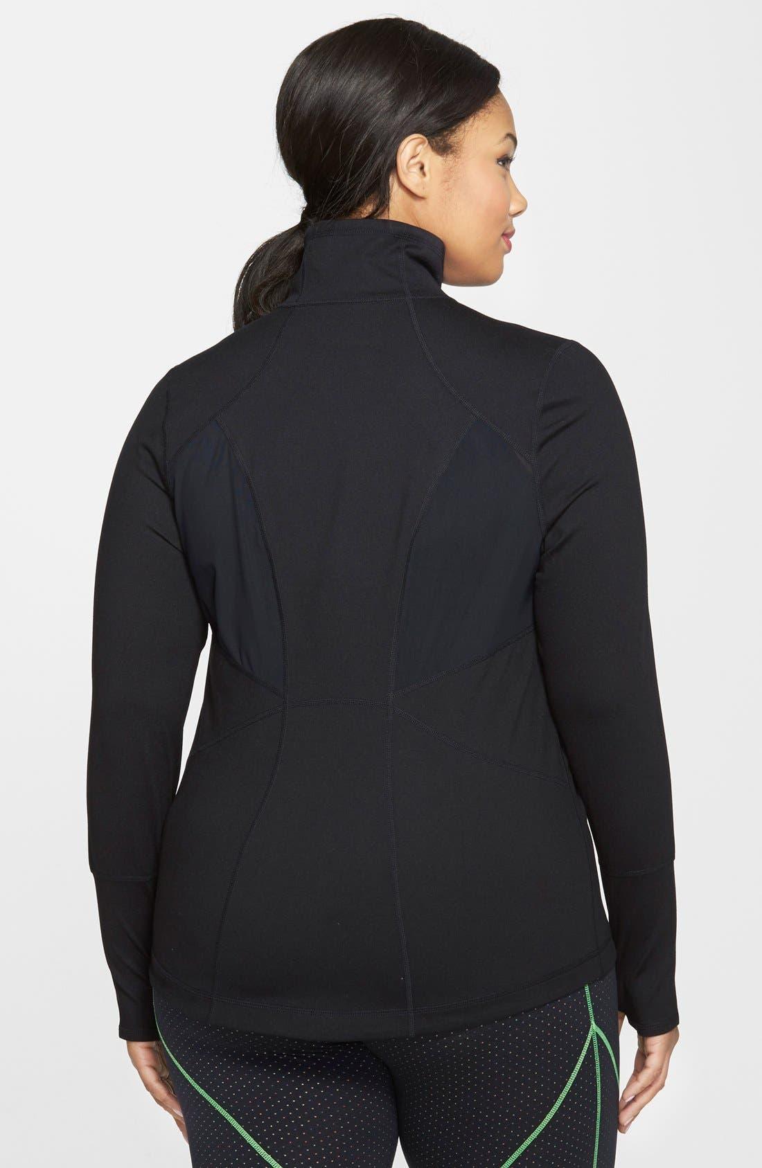Alternate Image 2  - Zella 'Stamina' Jacket (Plus Size)
