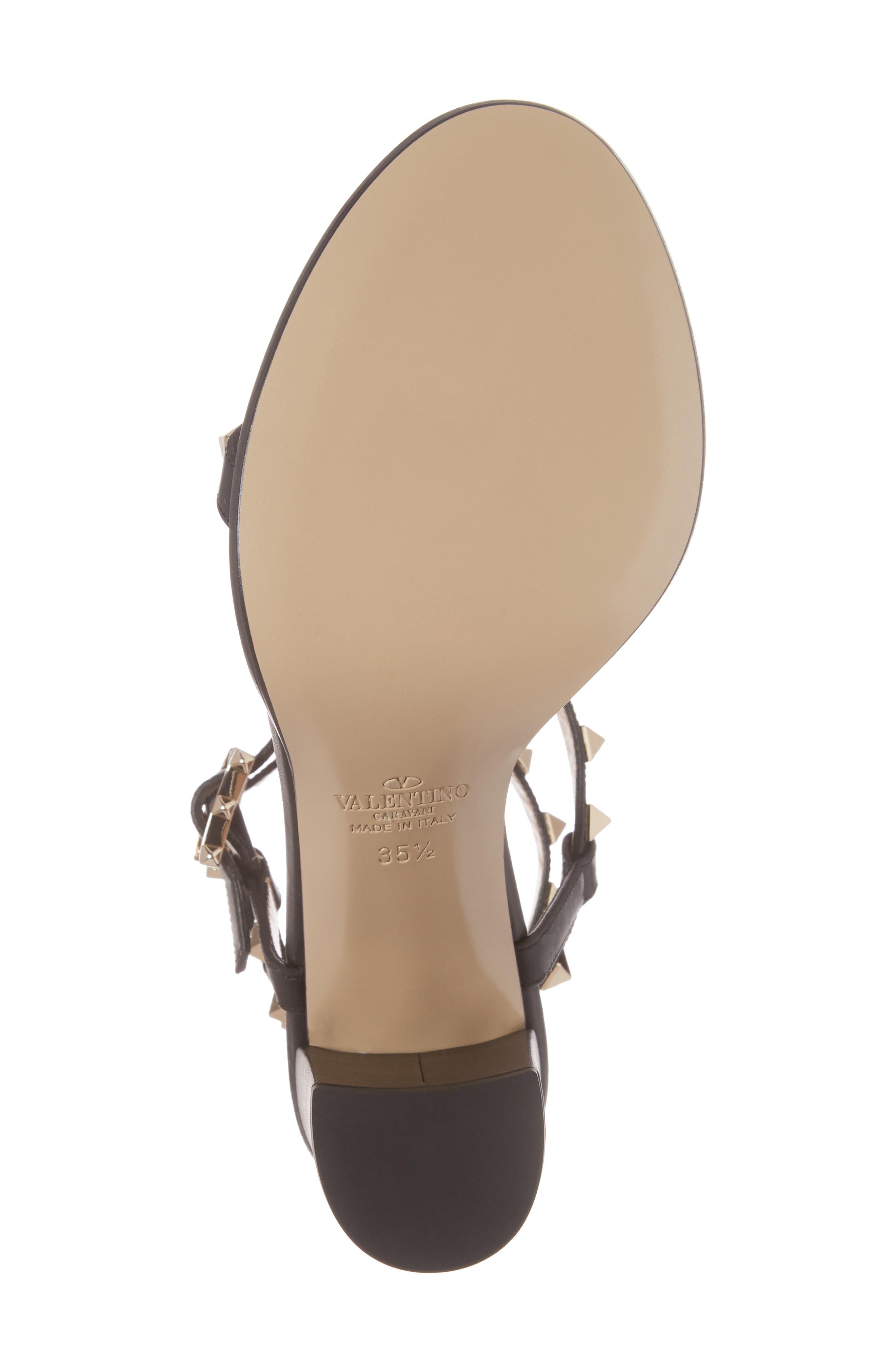Alternate Image 6  - Valentino Rockstud Ankle Strap Sandal (Women)