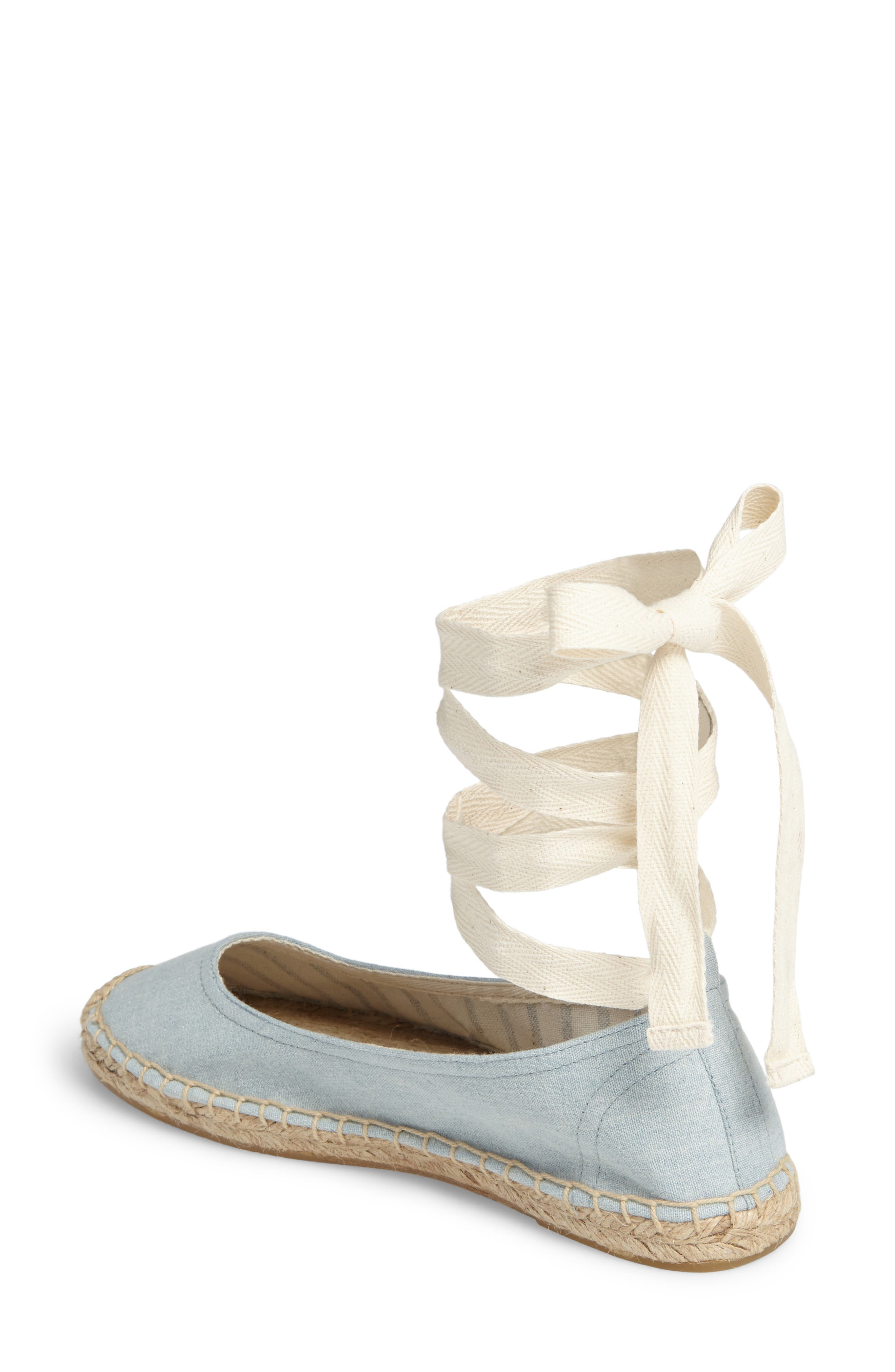 Alternate Image 2  - Soludos Ankle Tie Espadrille Flat (Women)