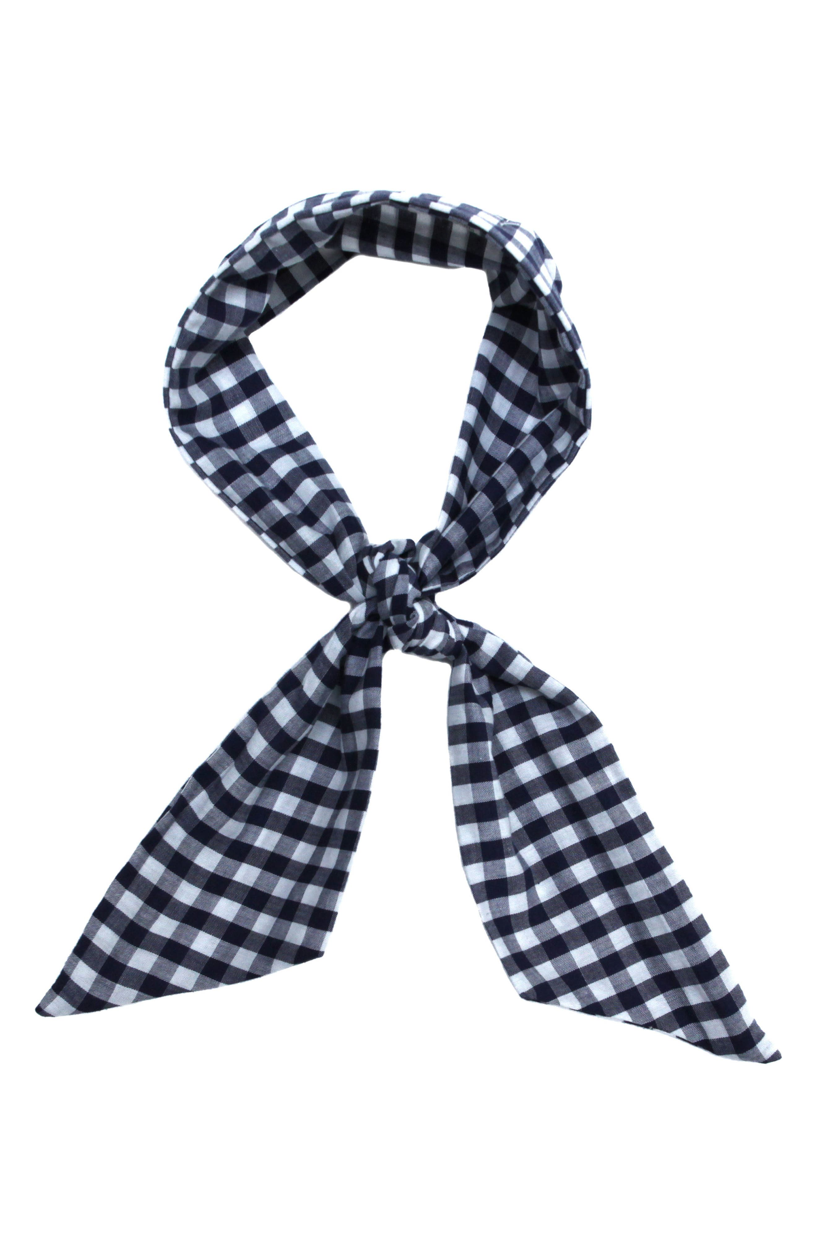 Main Image - Donni Charm Gingham Wire Scarf