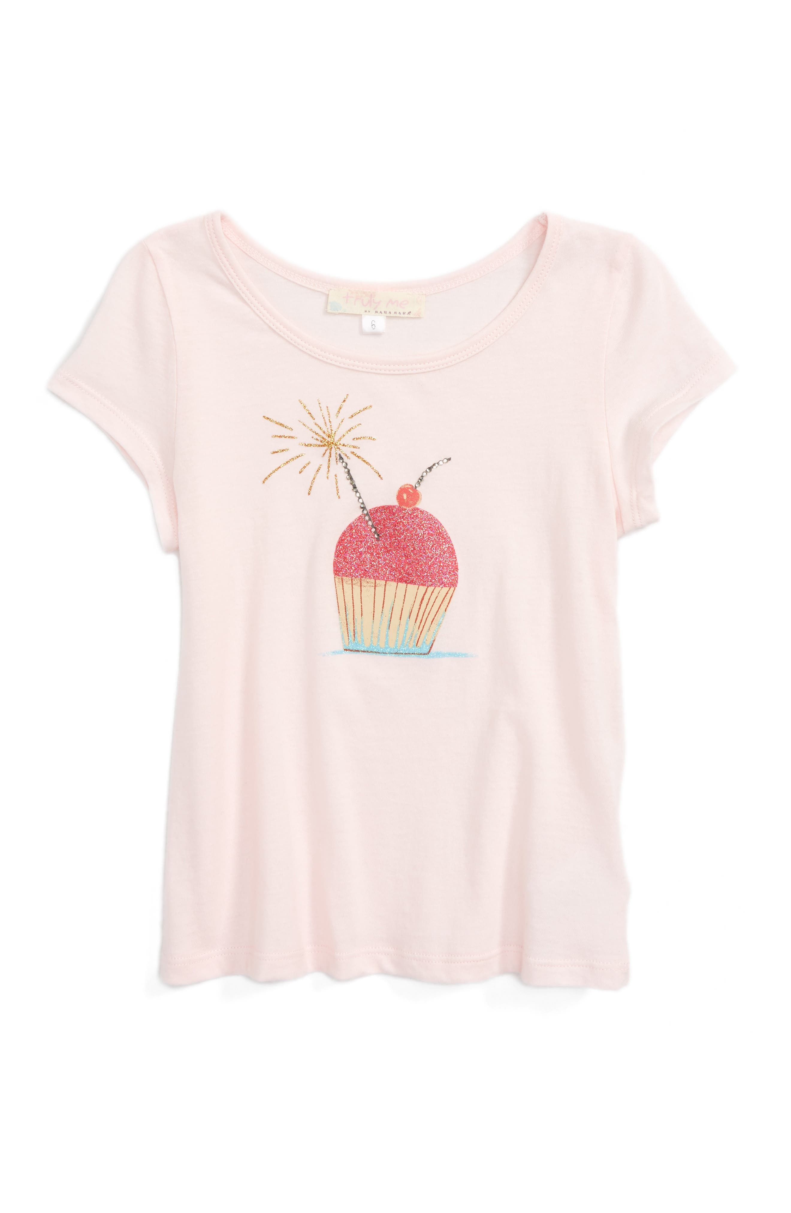 Truly Me Cake Graphic Tee (Toddler Girls & Little Girls)