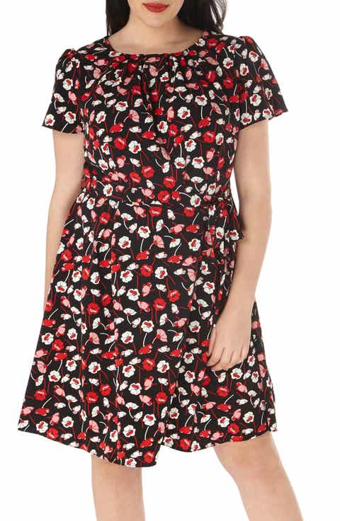 Dorothy Perkins Poppy Print A-Line Dress (Plus Size)