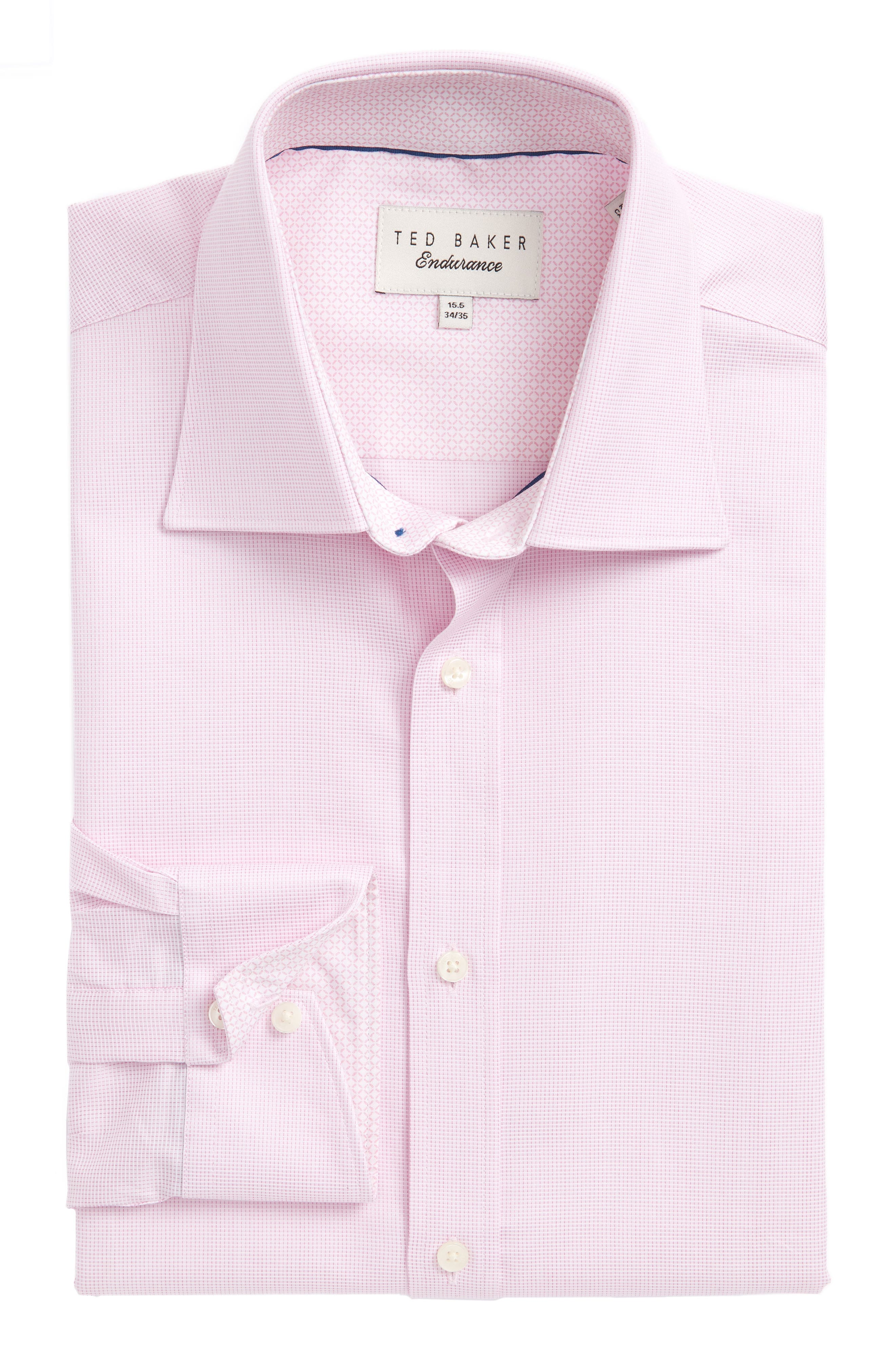 Ted Baker London Blinkie Trim Fit Solid Dress Shirt
