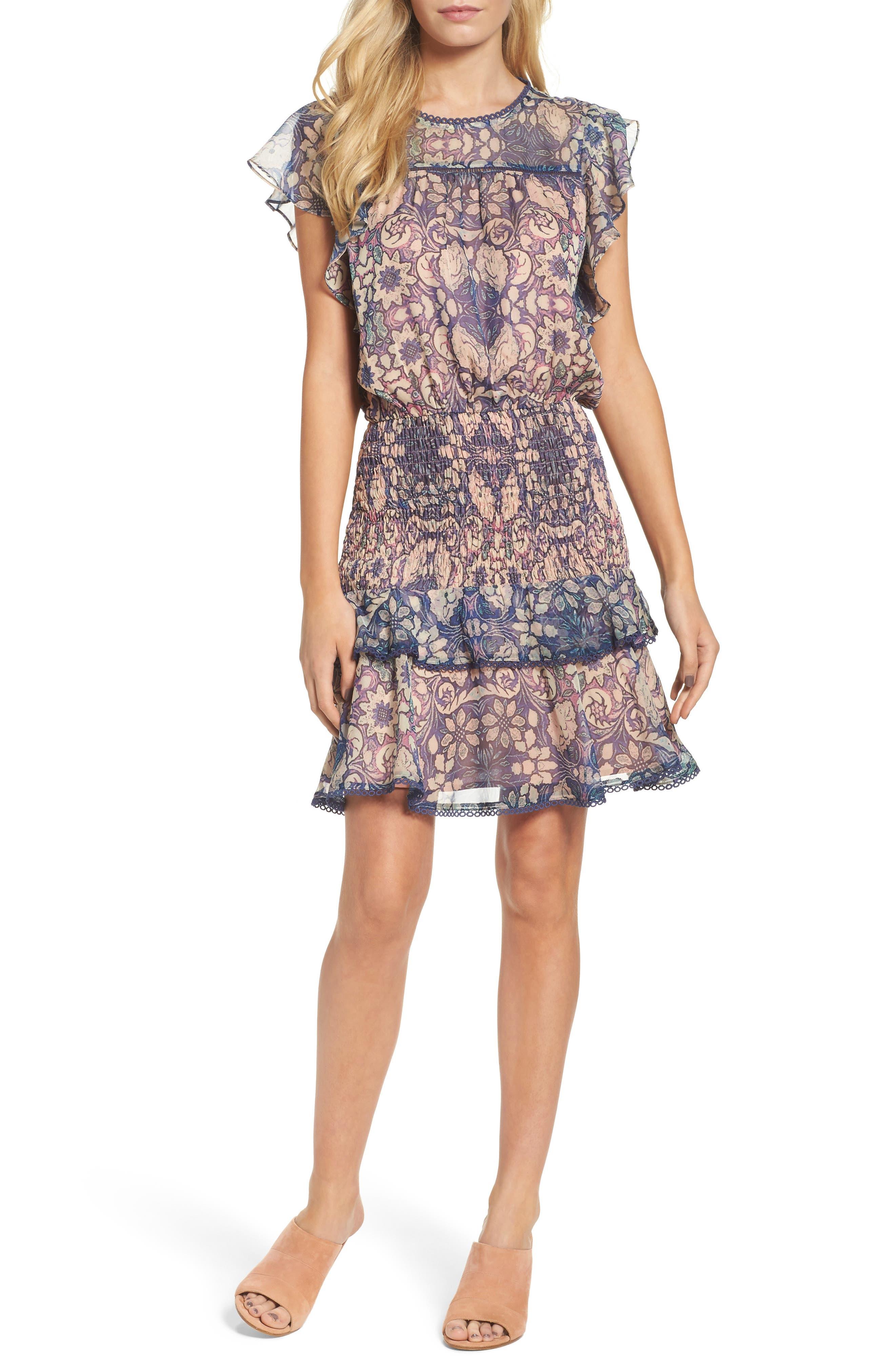 Alternate Image 1 Selected - Chelsea28 Tiered Blouson Dress