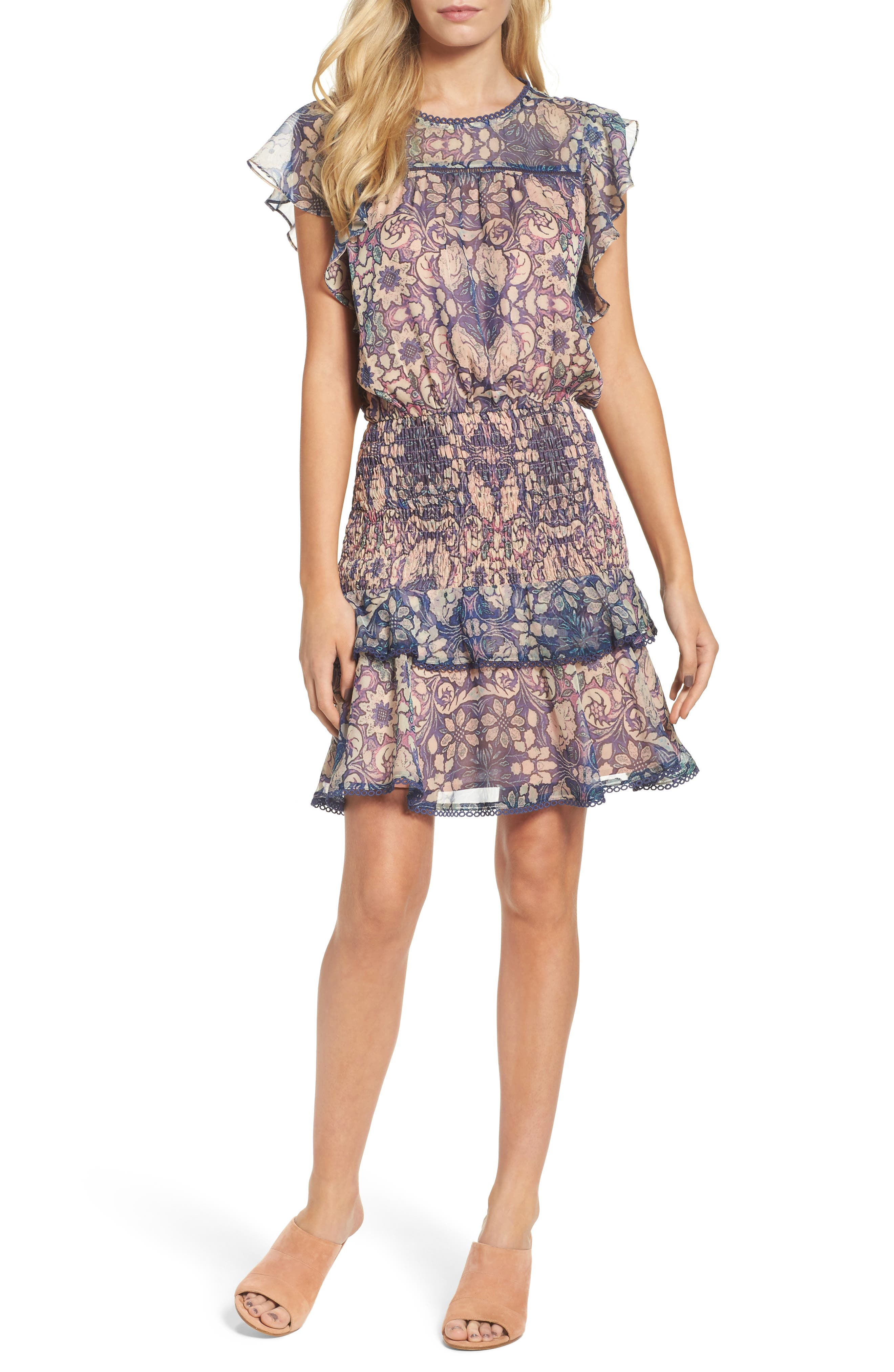 Main Image - Chelsea28 Tiered Blouson Dress