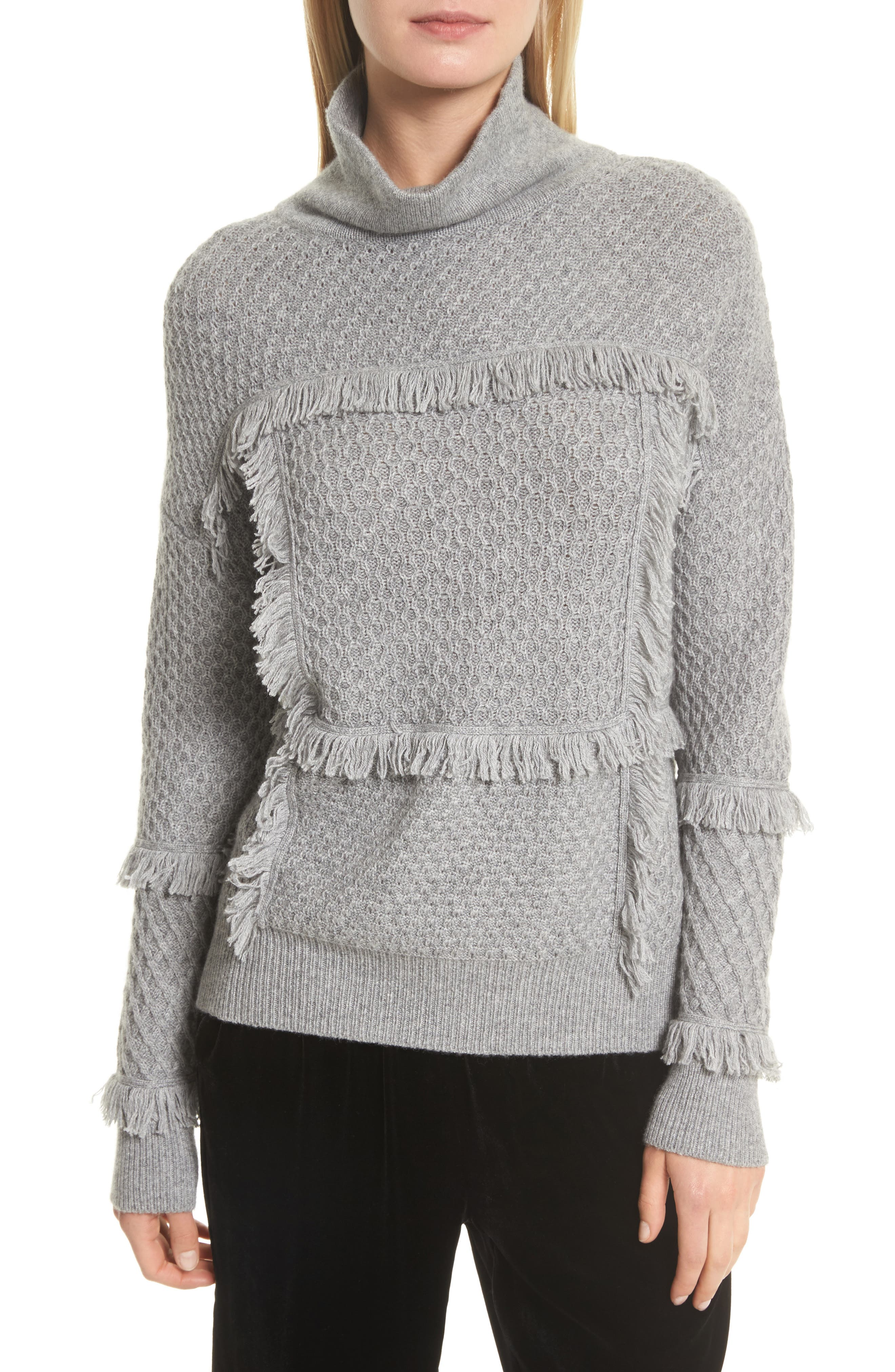 Joie Paisli Fringe Trim Sweater