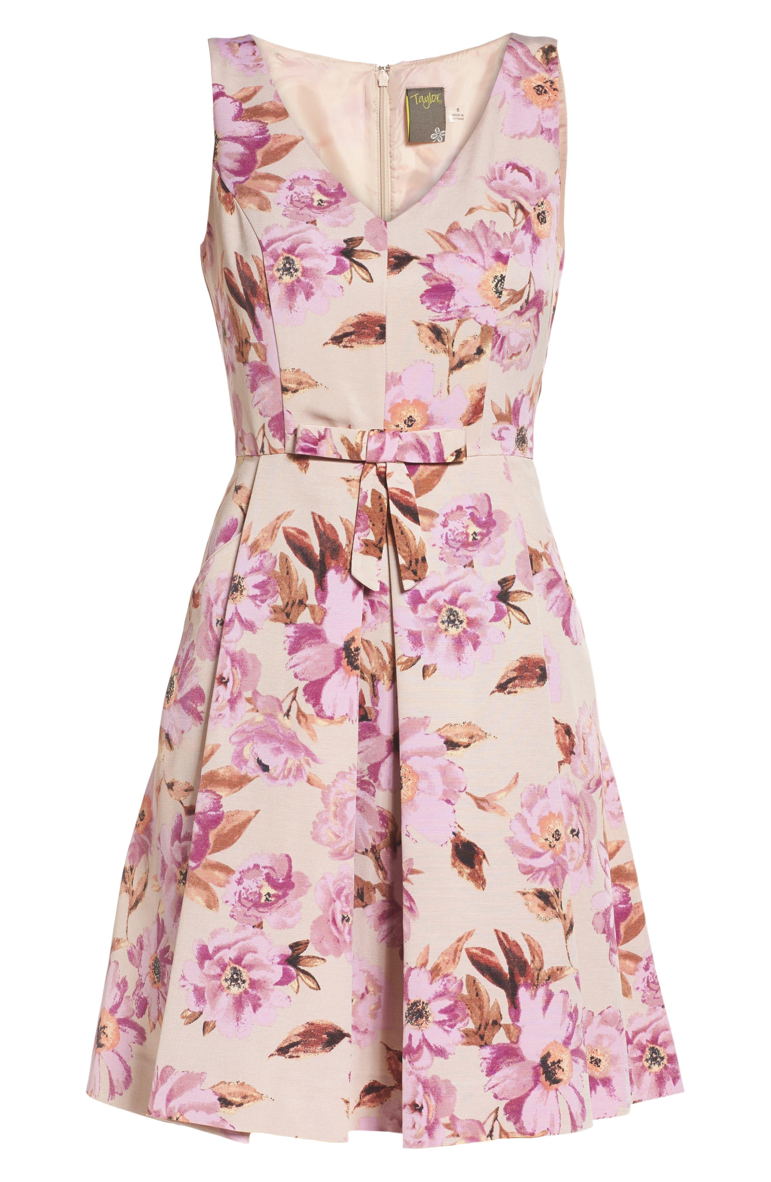 Alternate Image 6  - Taylor Dresses Fit & Flare Dress