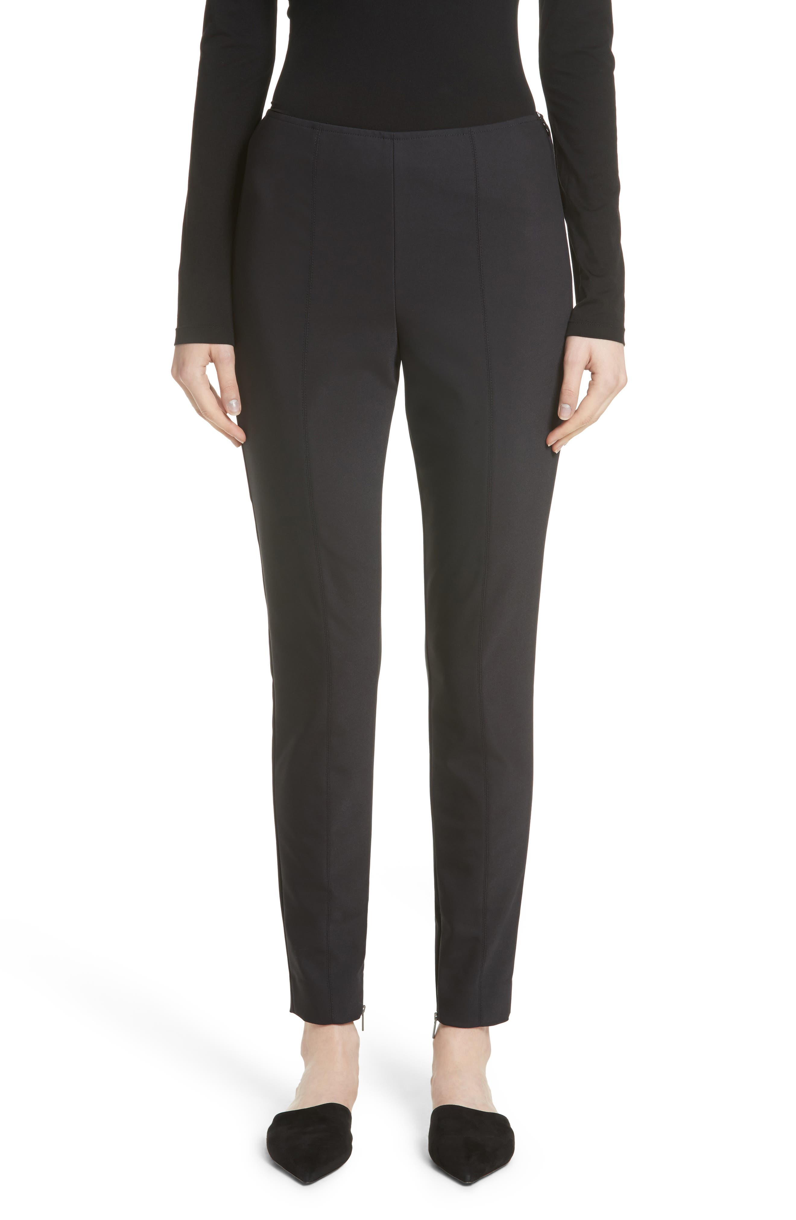 St. John Collection Scuba Bi-Stretch Crop Leggings (Nordstrom Exclusive)