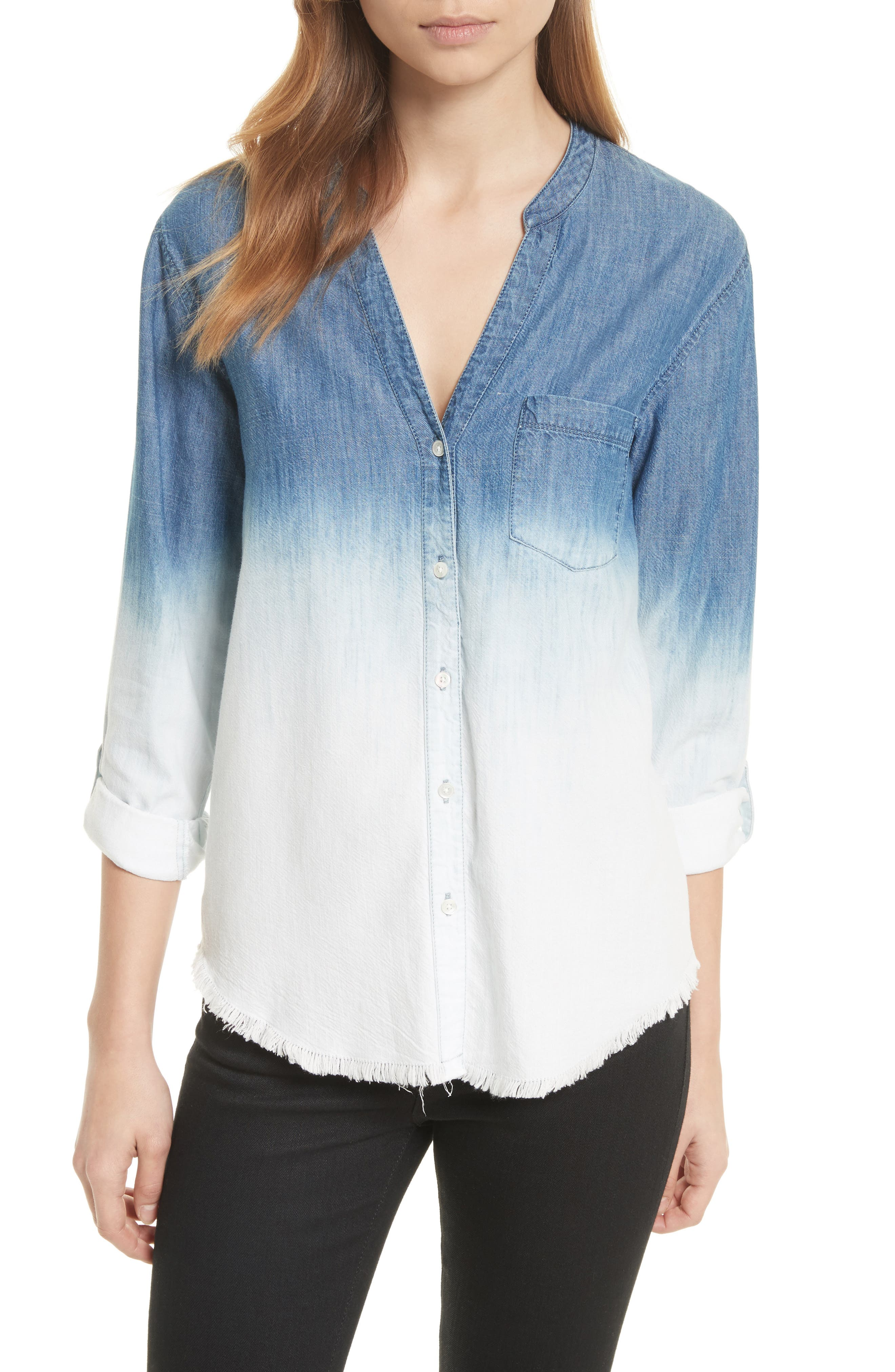 Soft Joie Normana Ombré Denim Shirt
