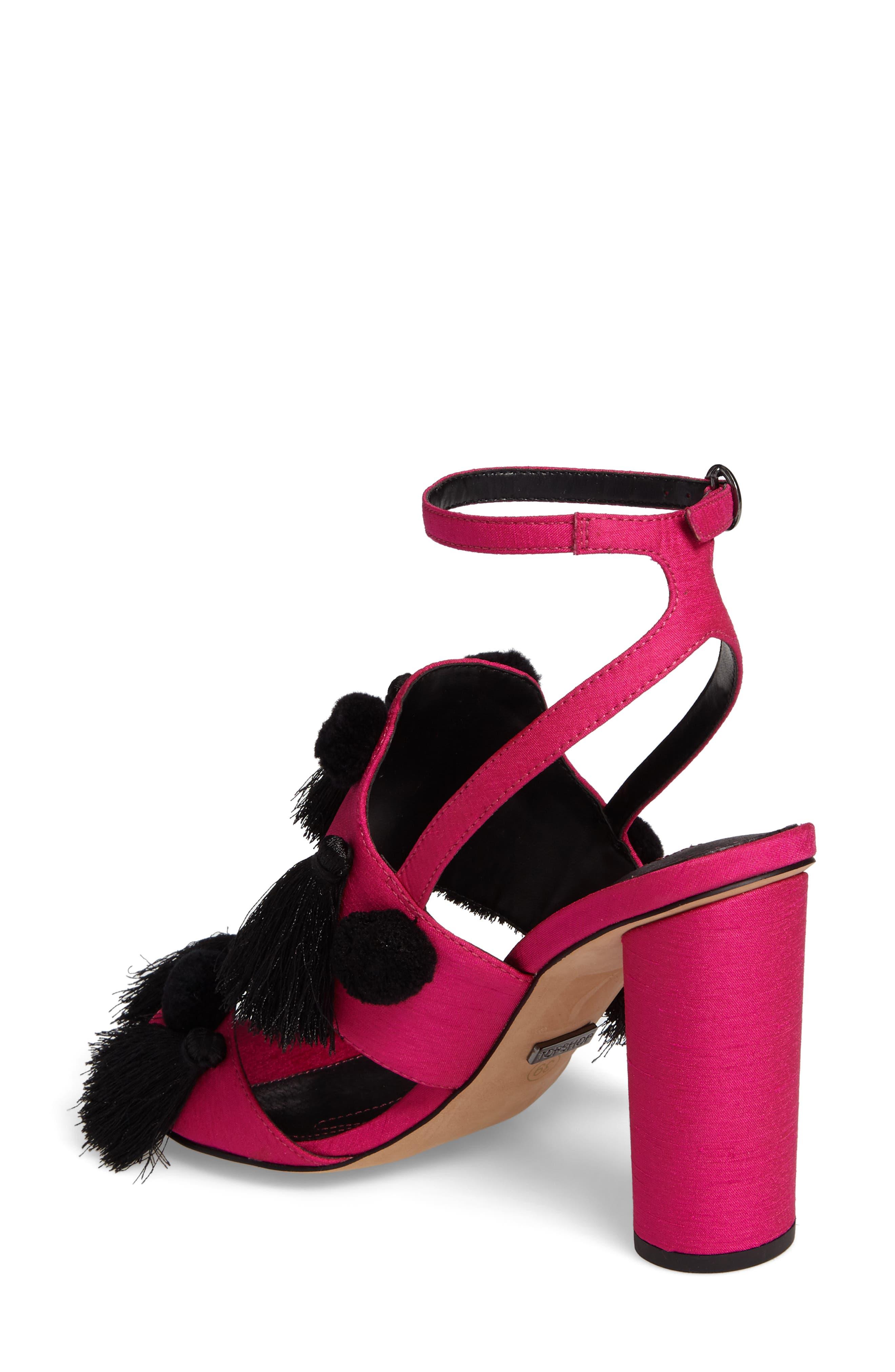Alternate Image 2  - Topshop Rave Tasseled Pom Sandal (Women)