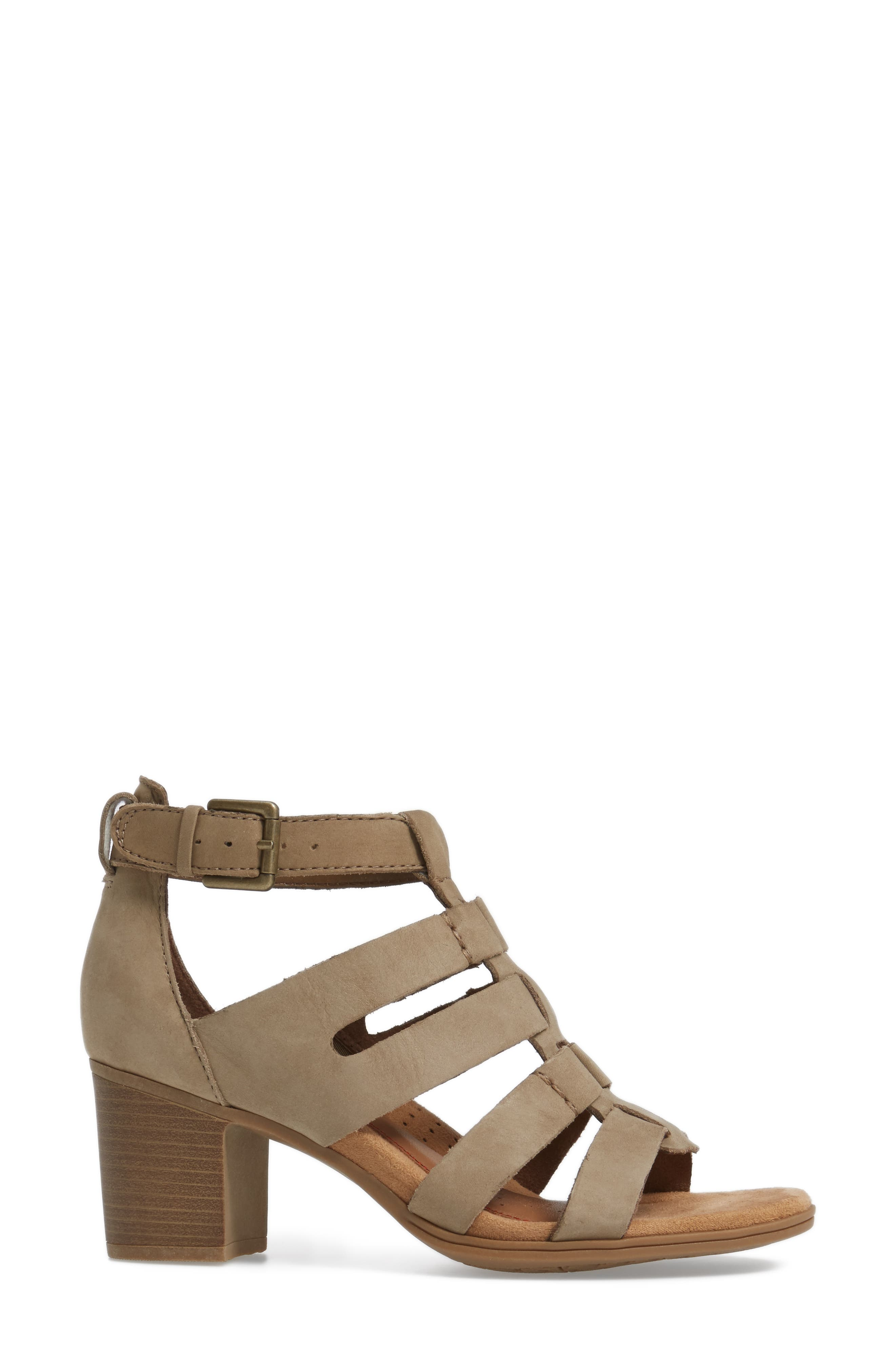 Alternate Image 3  - Rockport Cobb Hill Hattie Block Heel Gladiator Sandal (Women)
