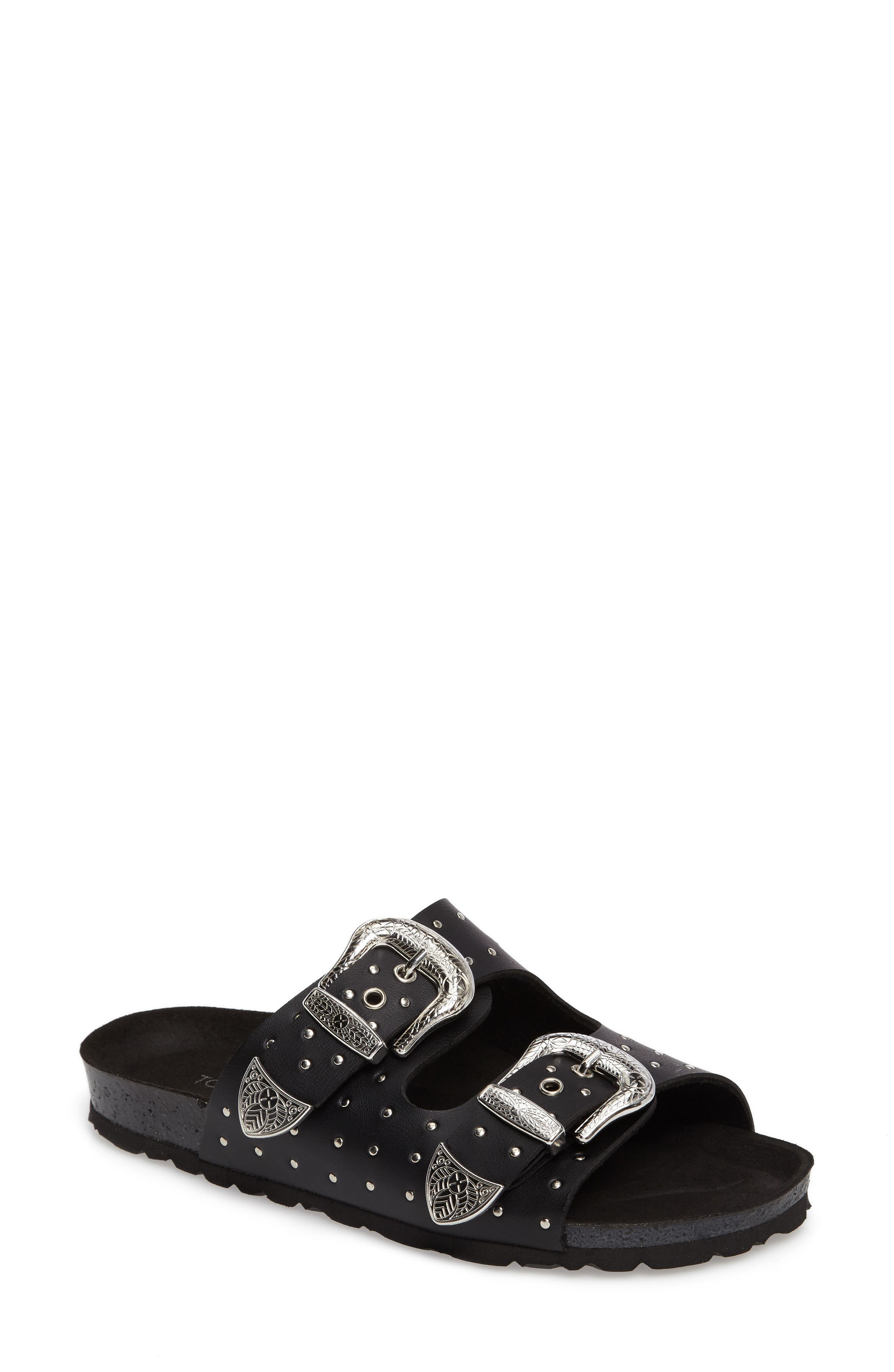 Topshop Falcon Studded Concho Buckle Sandal (Women)