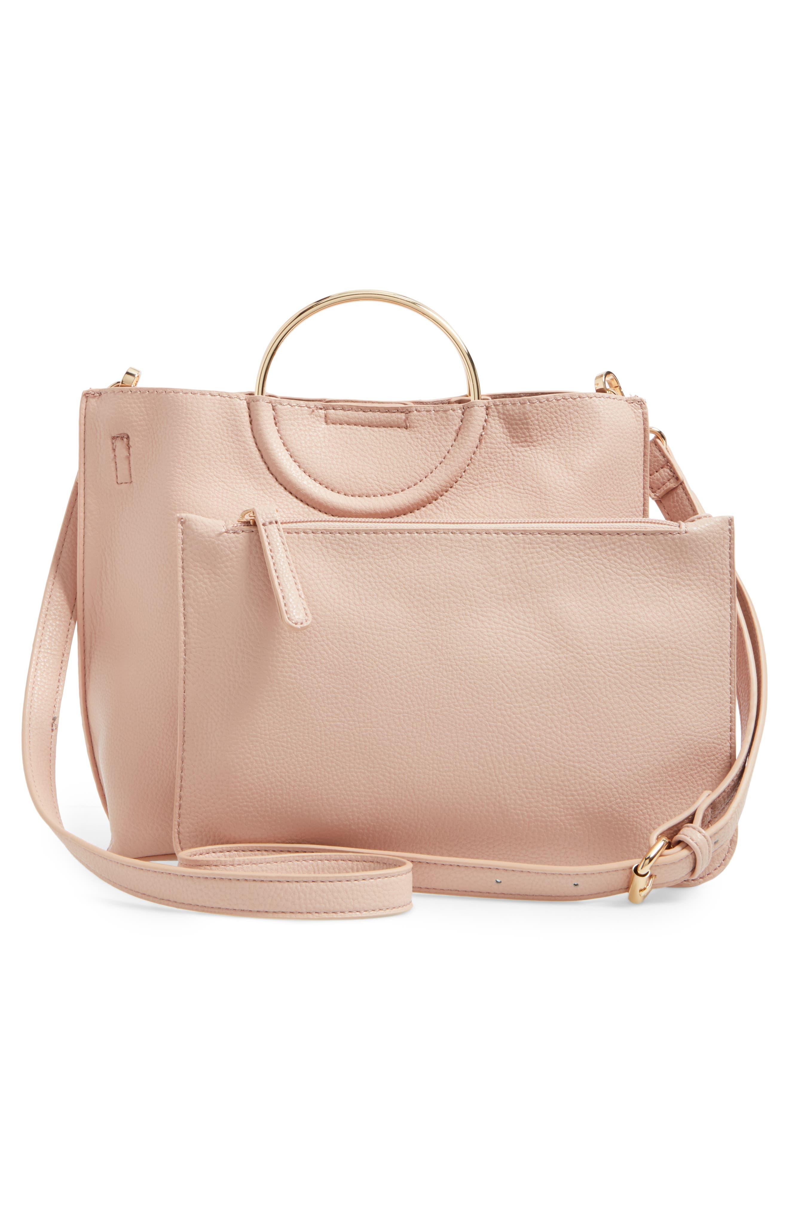 Alternate Image 2  - BP. Metal Handle Faux Leather Crossbody Bag