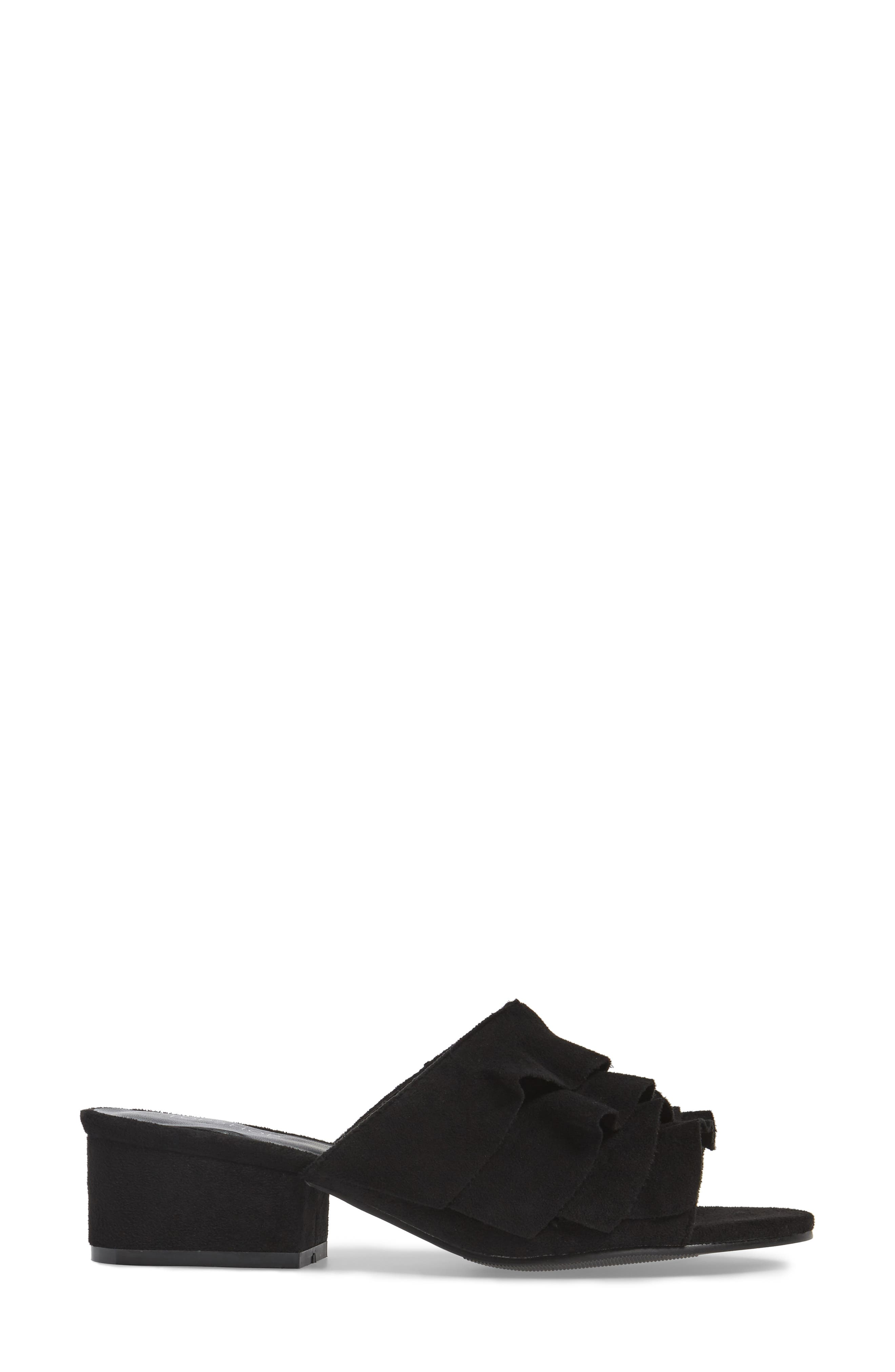 Alternate Image 3  - Topshop Darcy Ruffle Slide Sandal (Women)