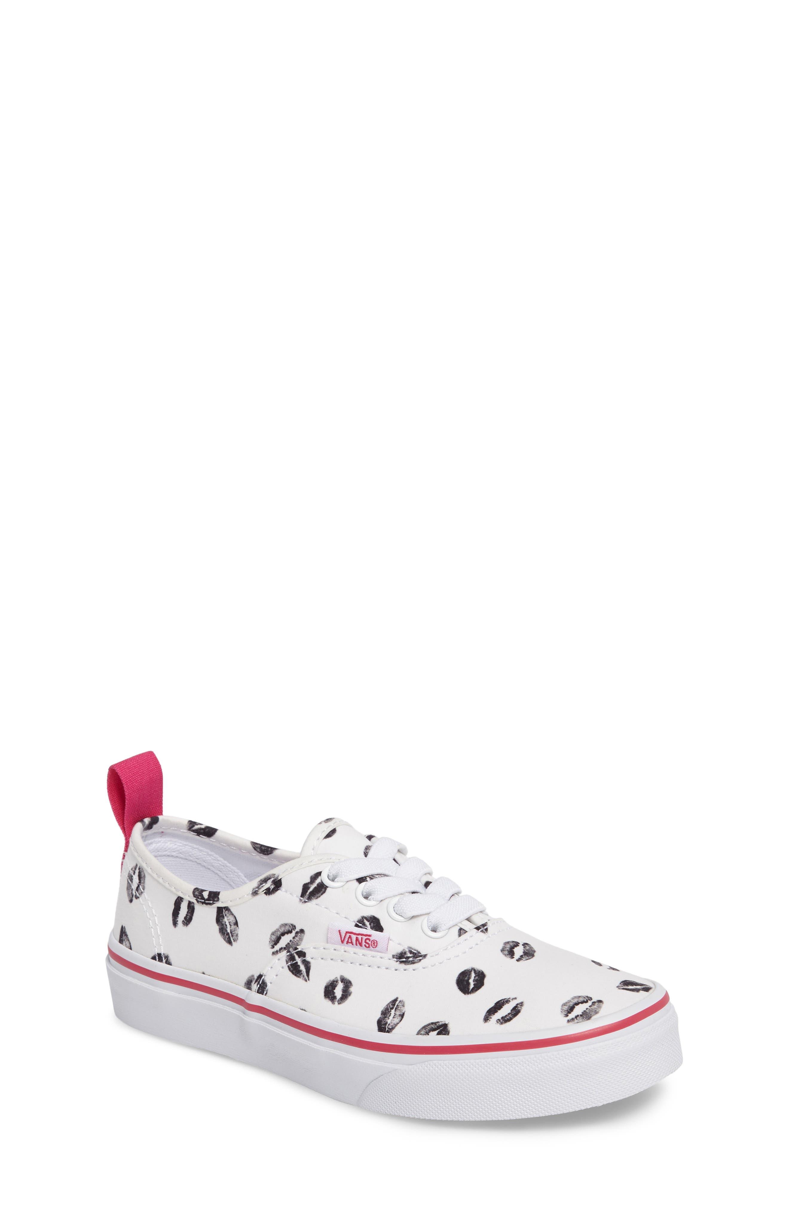 Vans Valentines Authentic Elastic Lace Sneaker (Toddler, Little Kid & Big Kid)