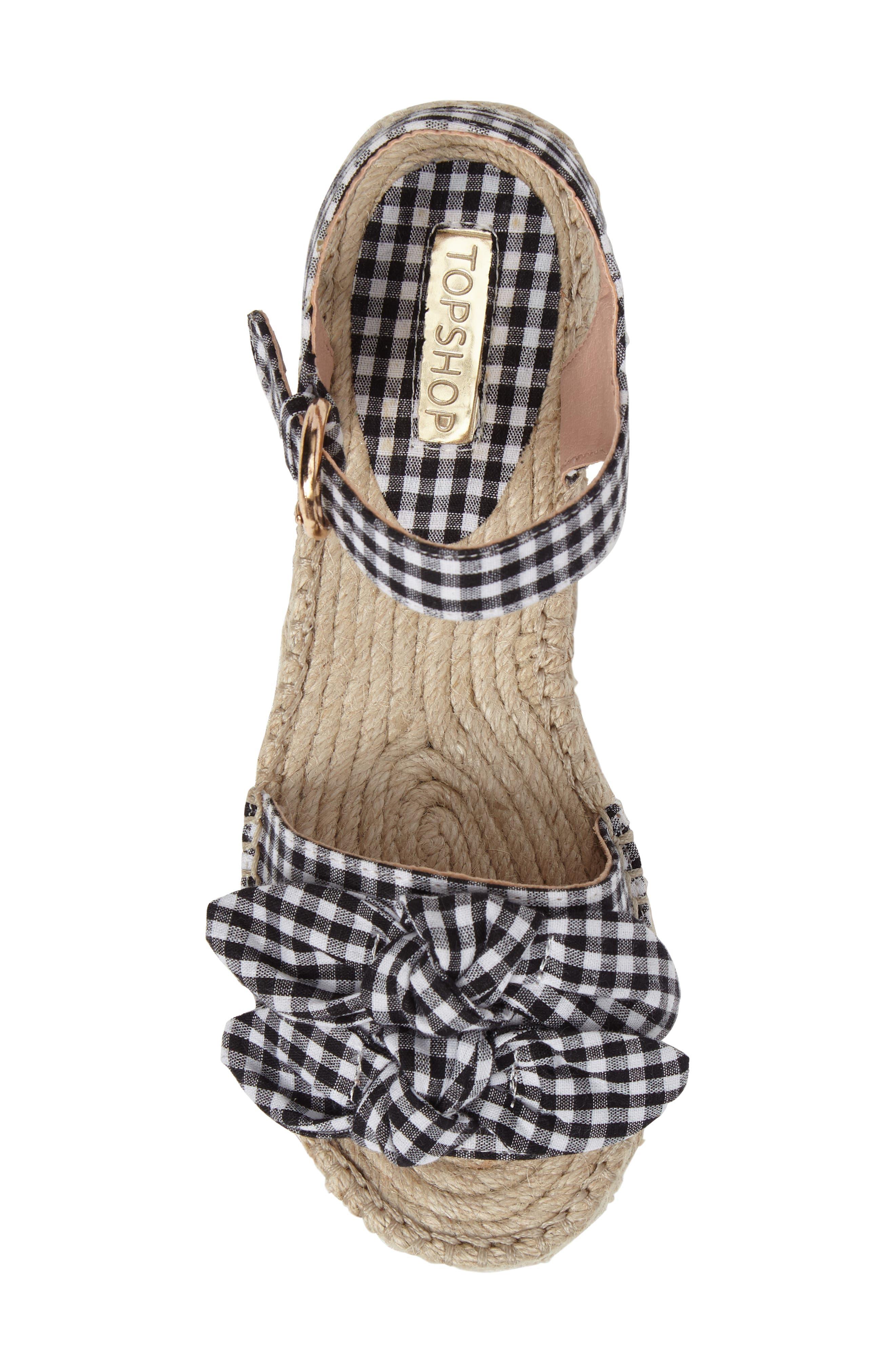 Alternate Image 5  - Topshop Wendy Gingham Platform Sandal (Women)