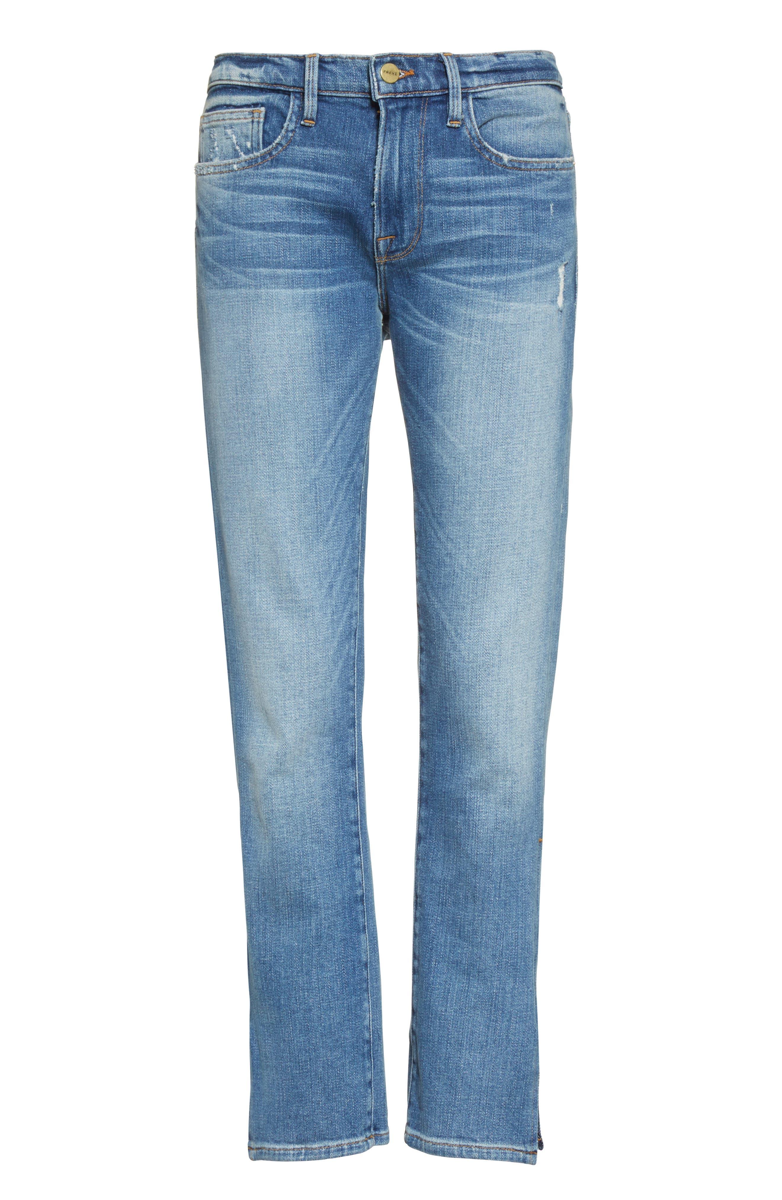 Alternate Image 7  - FRAME Le Boy Zip Hem Crop Jeans (Picadilly) (Nordstrom Exclusive)