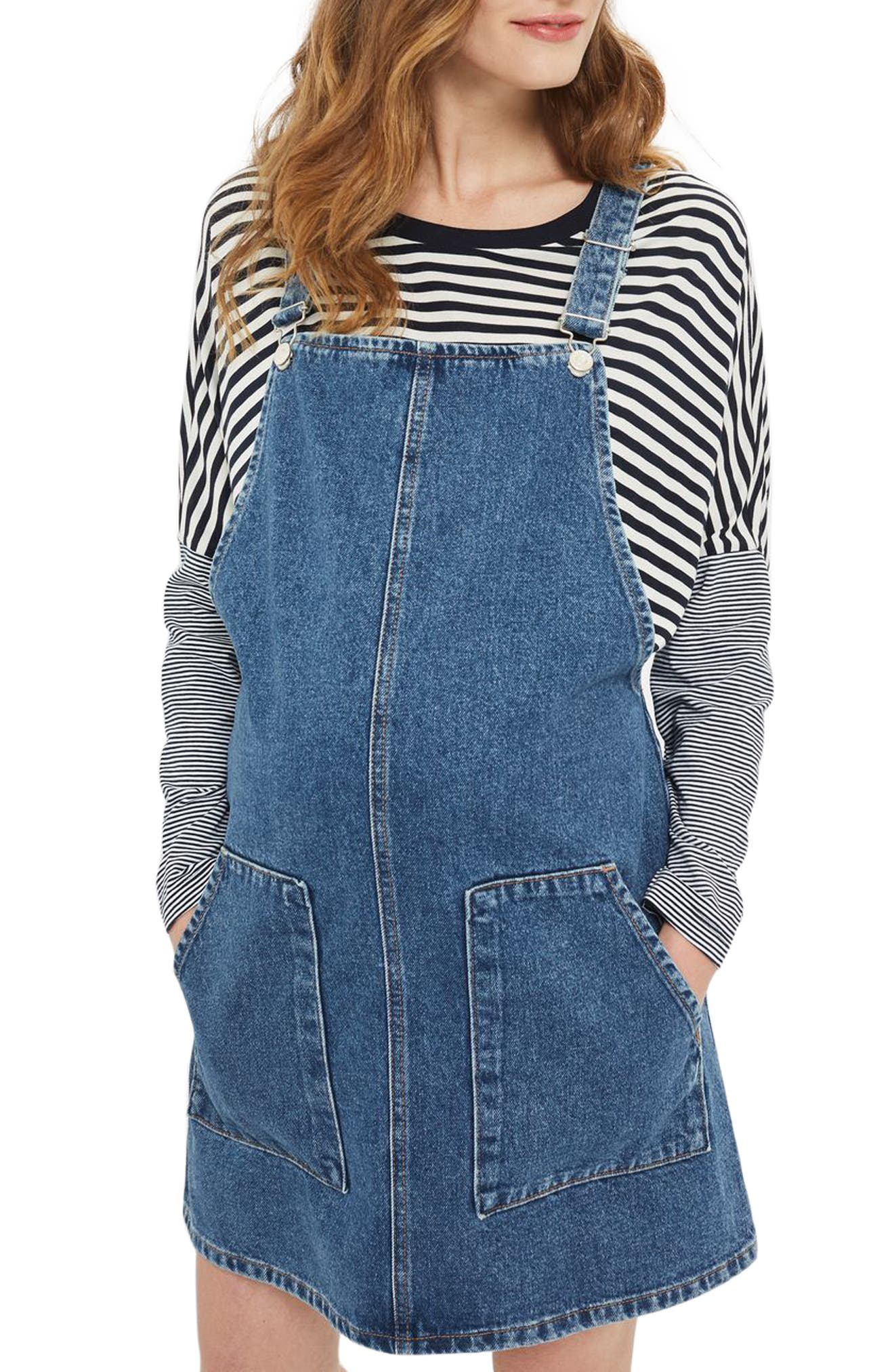 Topshop Maternity Pinafore Dress