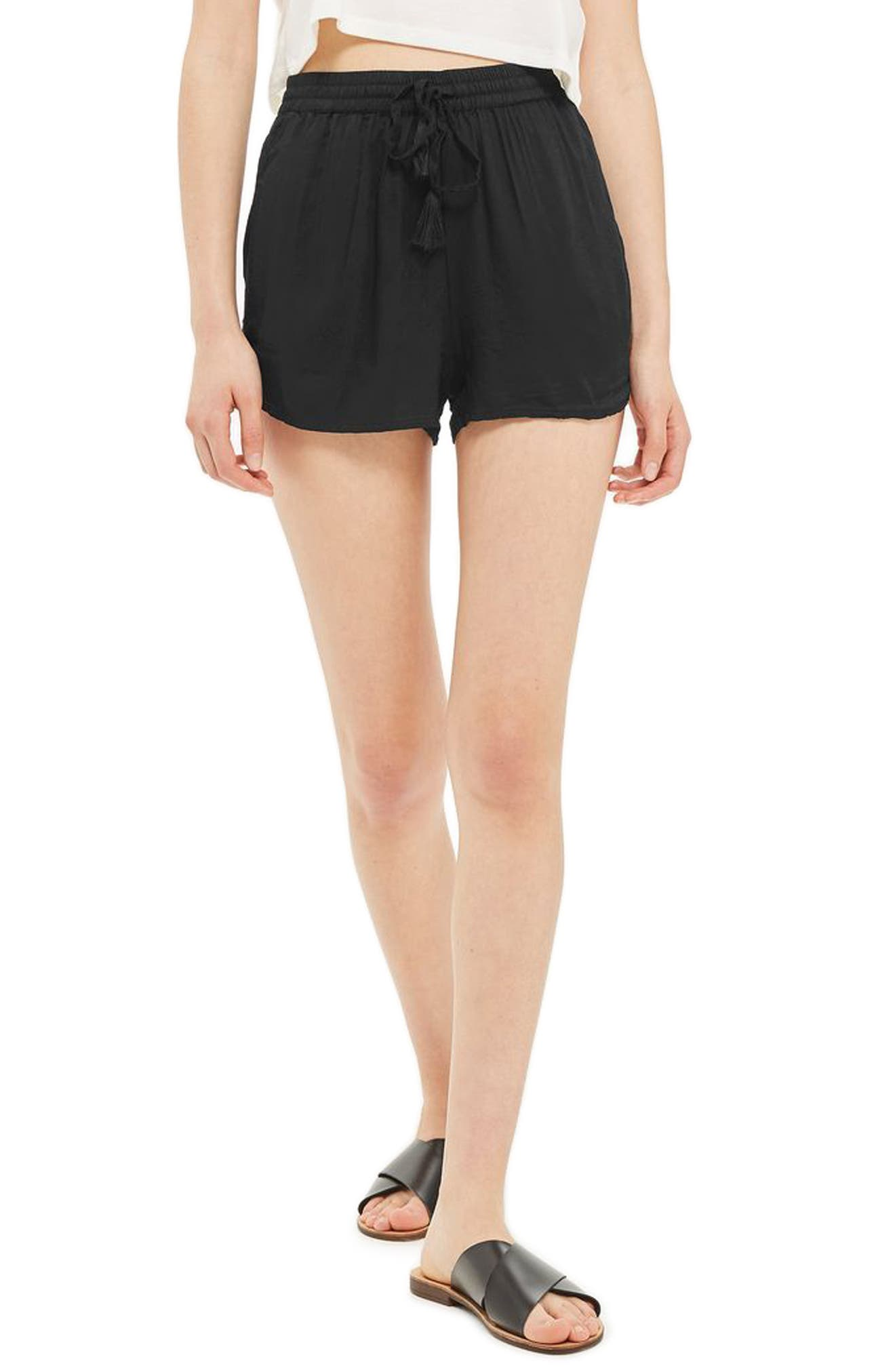 Topshop Tassel Tie Beach Shorts
