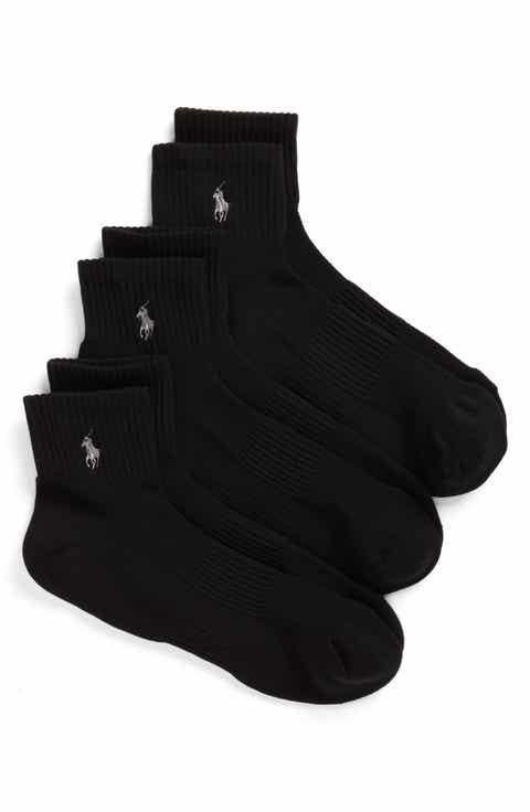 Polo Ralph Lauren 3-Pack Tech Athletic Quarter Socks