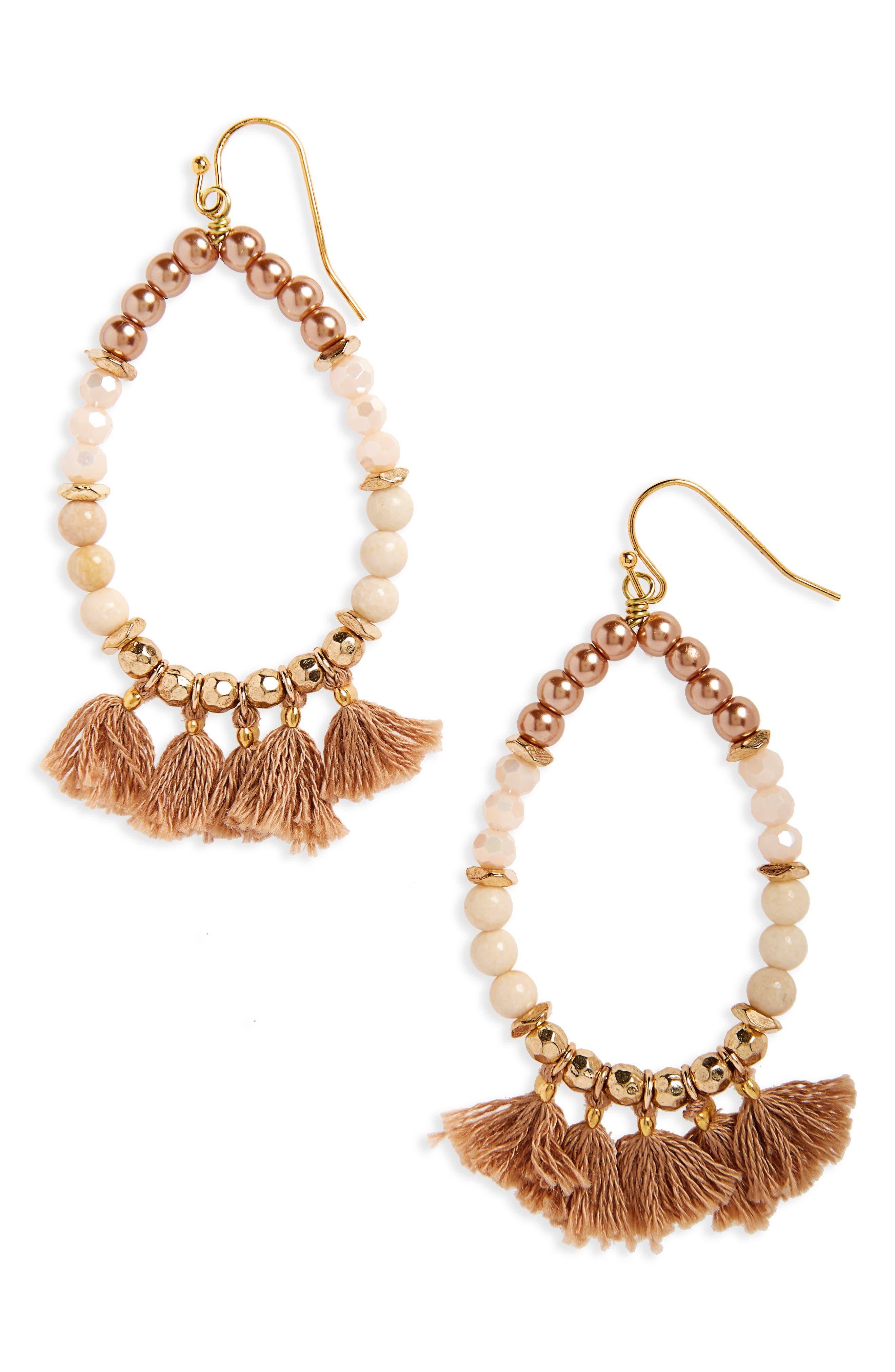 Alternate Image 1 Selected - Panacea Beaded Tassel Earrings