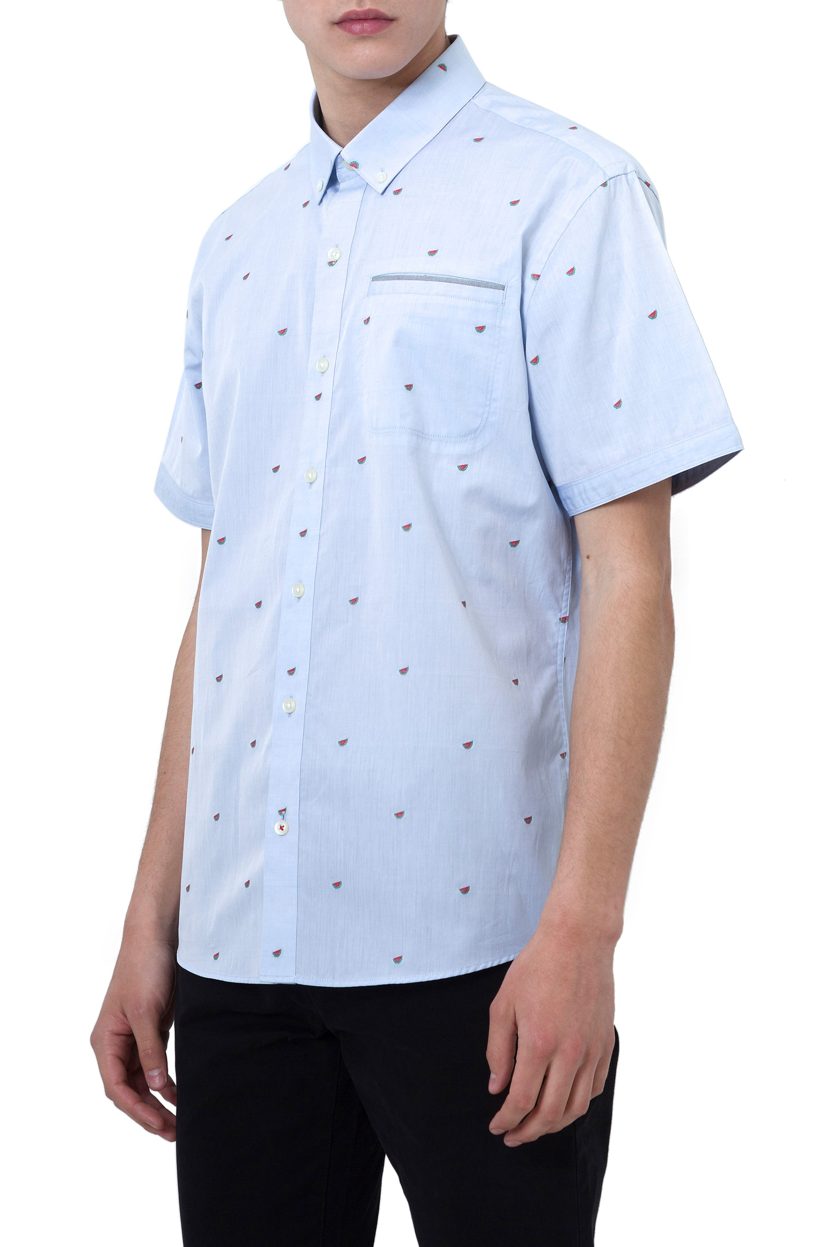 7 Diamonds Cool It Down Embroidered Woven Shirt
