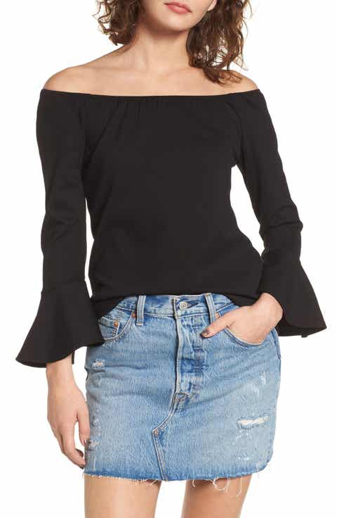 Madison   Berkeley Off the Shoulder Ruffle Blouse