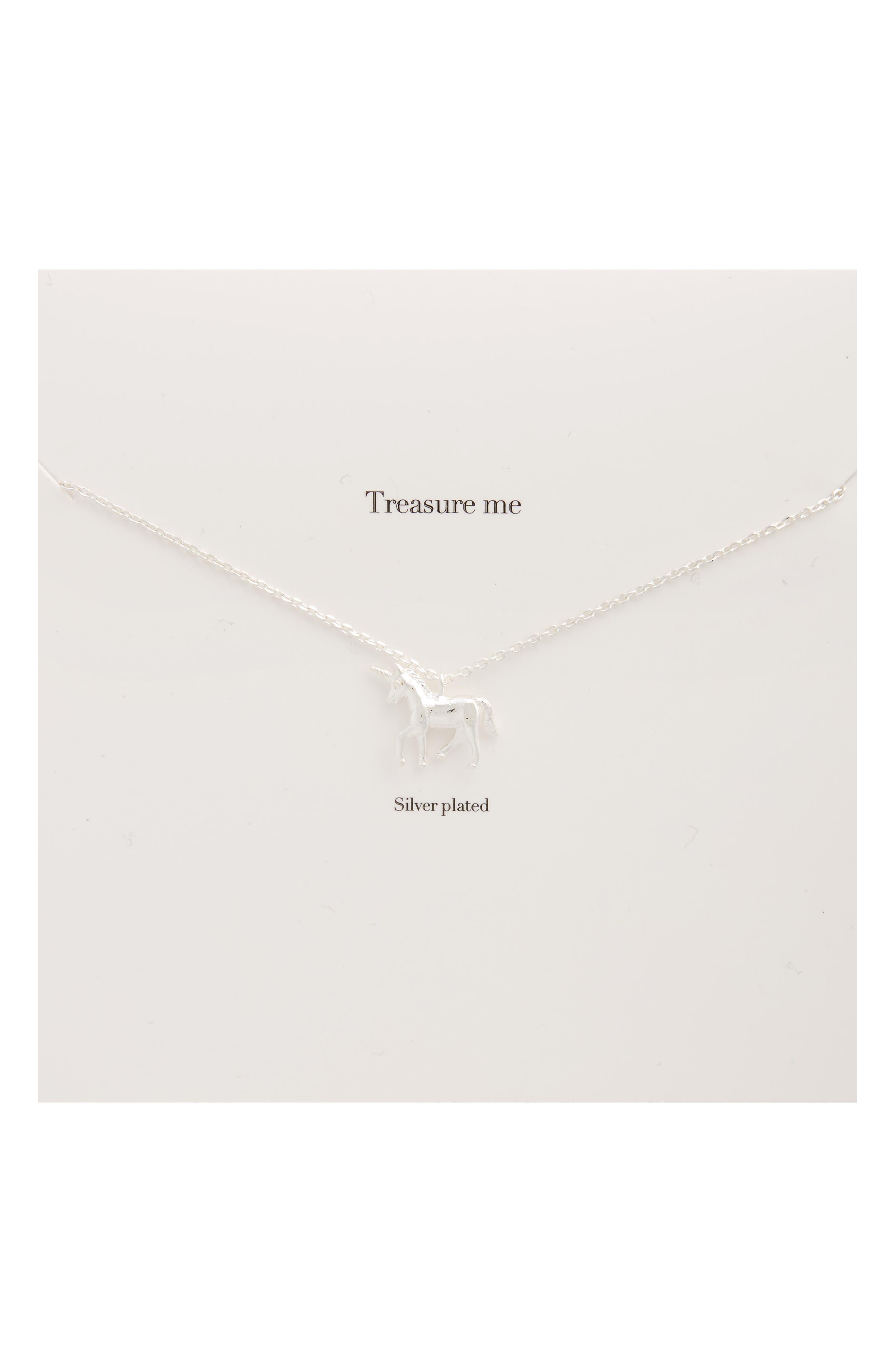 Alternate Image 1 Selected - Estella Bartlett Treasure Me Unicorn Necklace