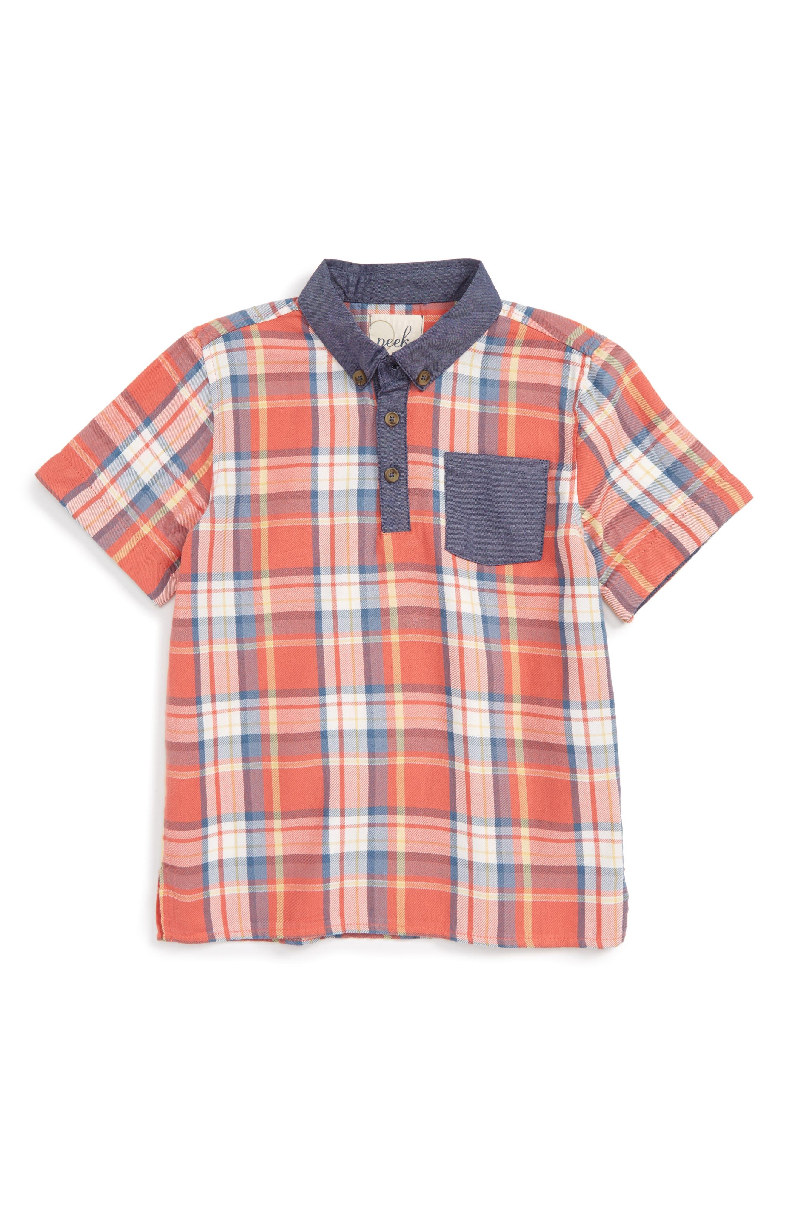 Peek Plaid Shirt (Toddler Boys, Little Boys & Big Boys)