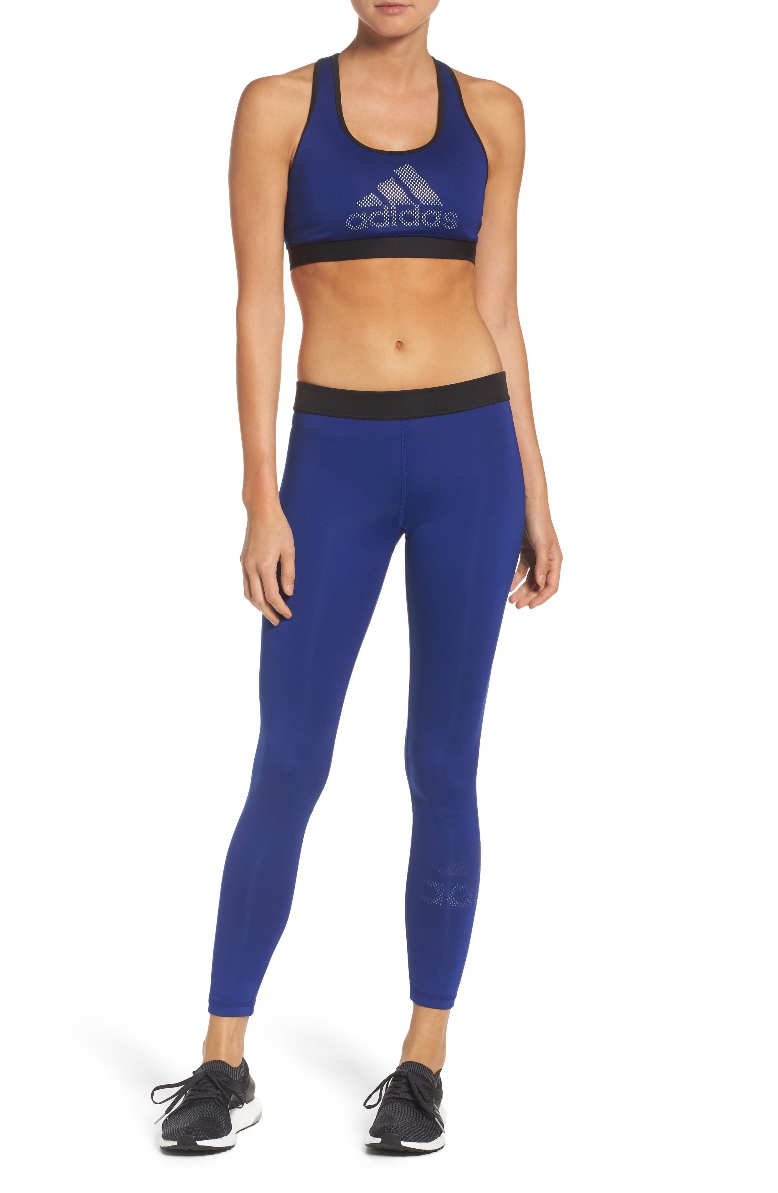 adidas Sports Bra & Tights Outfit with Accessories