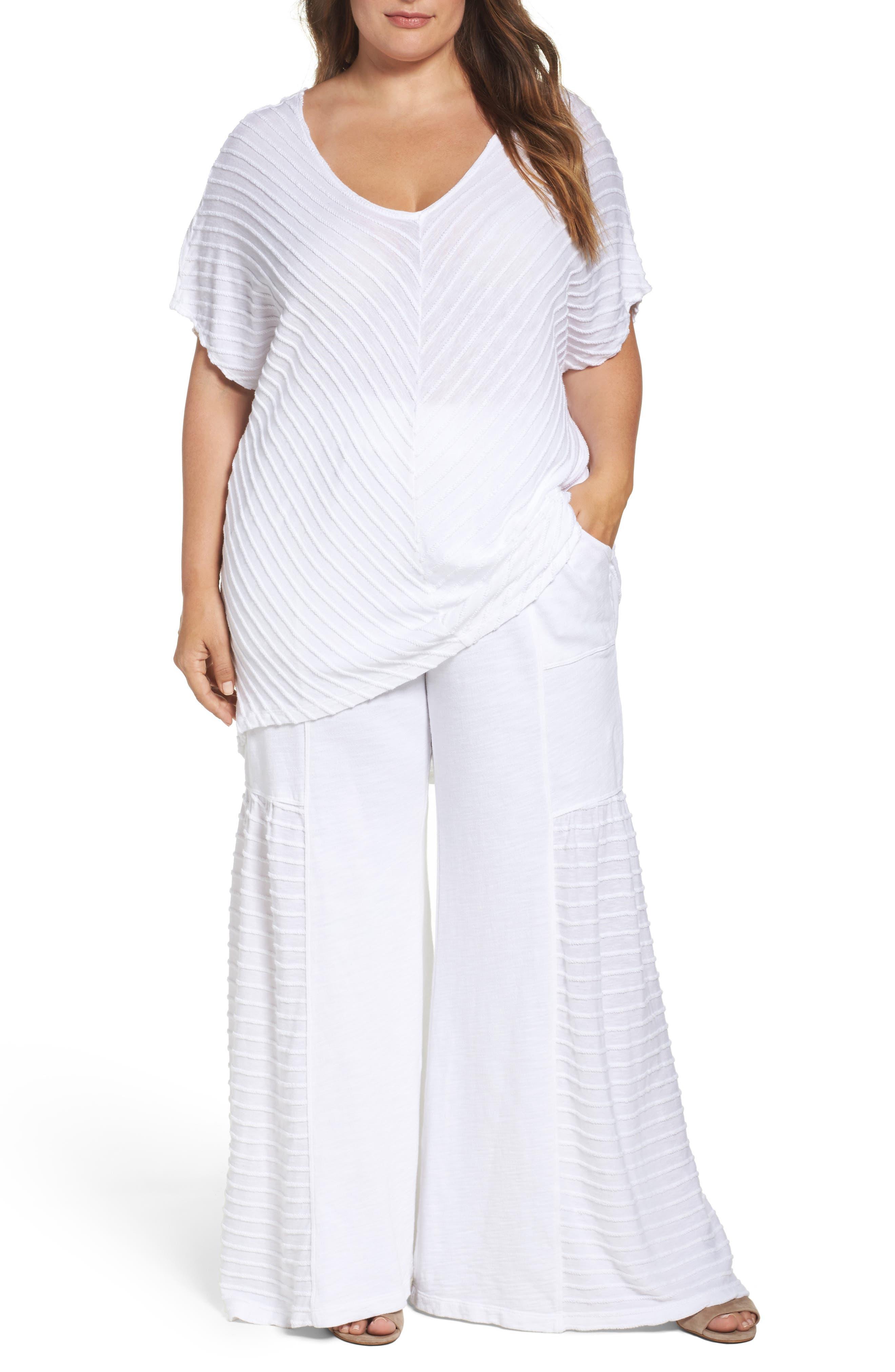 XCVI Wearables Meli Textured Stripe Top (Plus Size)