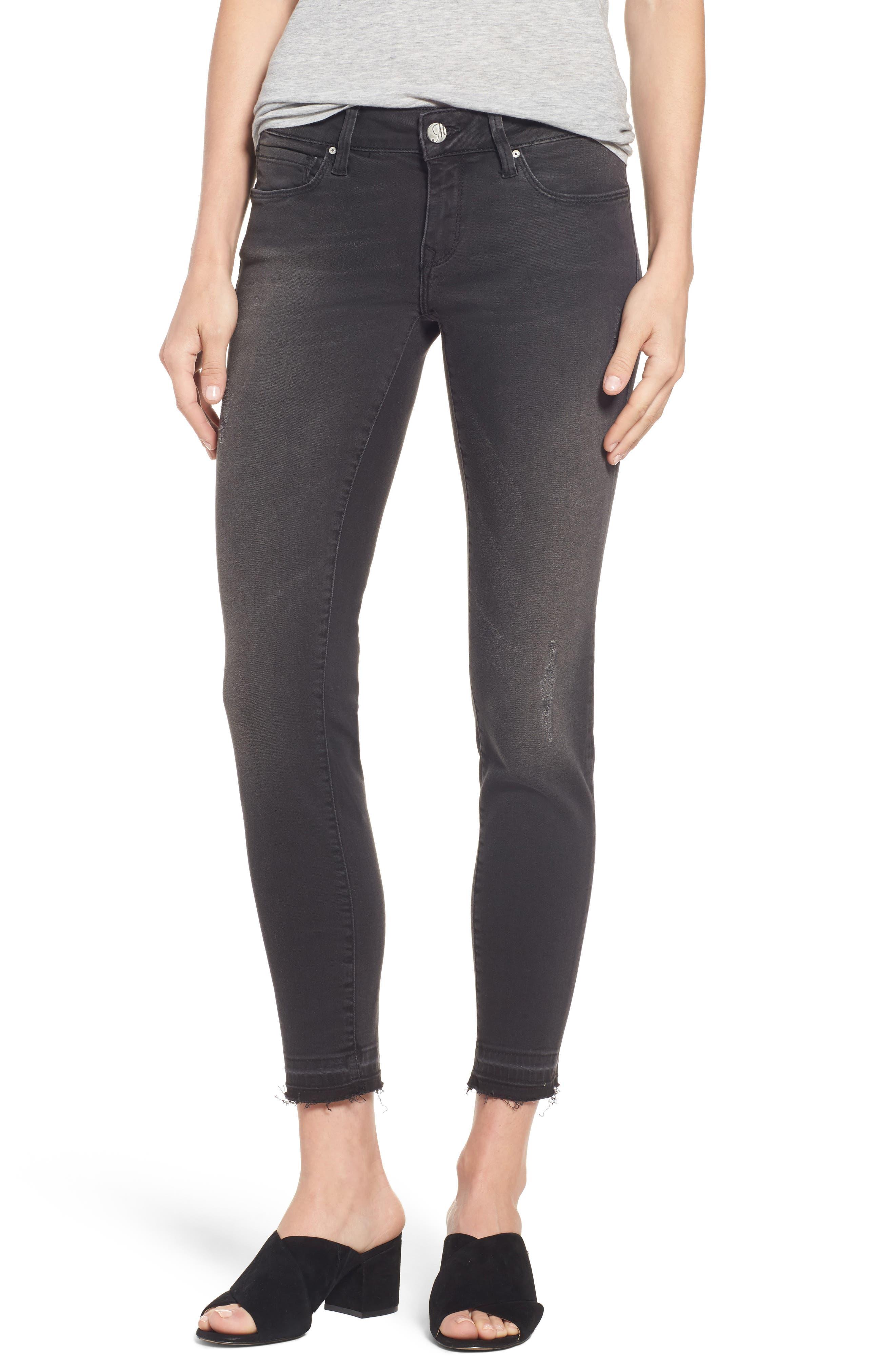 Mavi Jeans Serena Stretch Ankle Skinny Jeans (Smoke Tribeca)