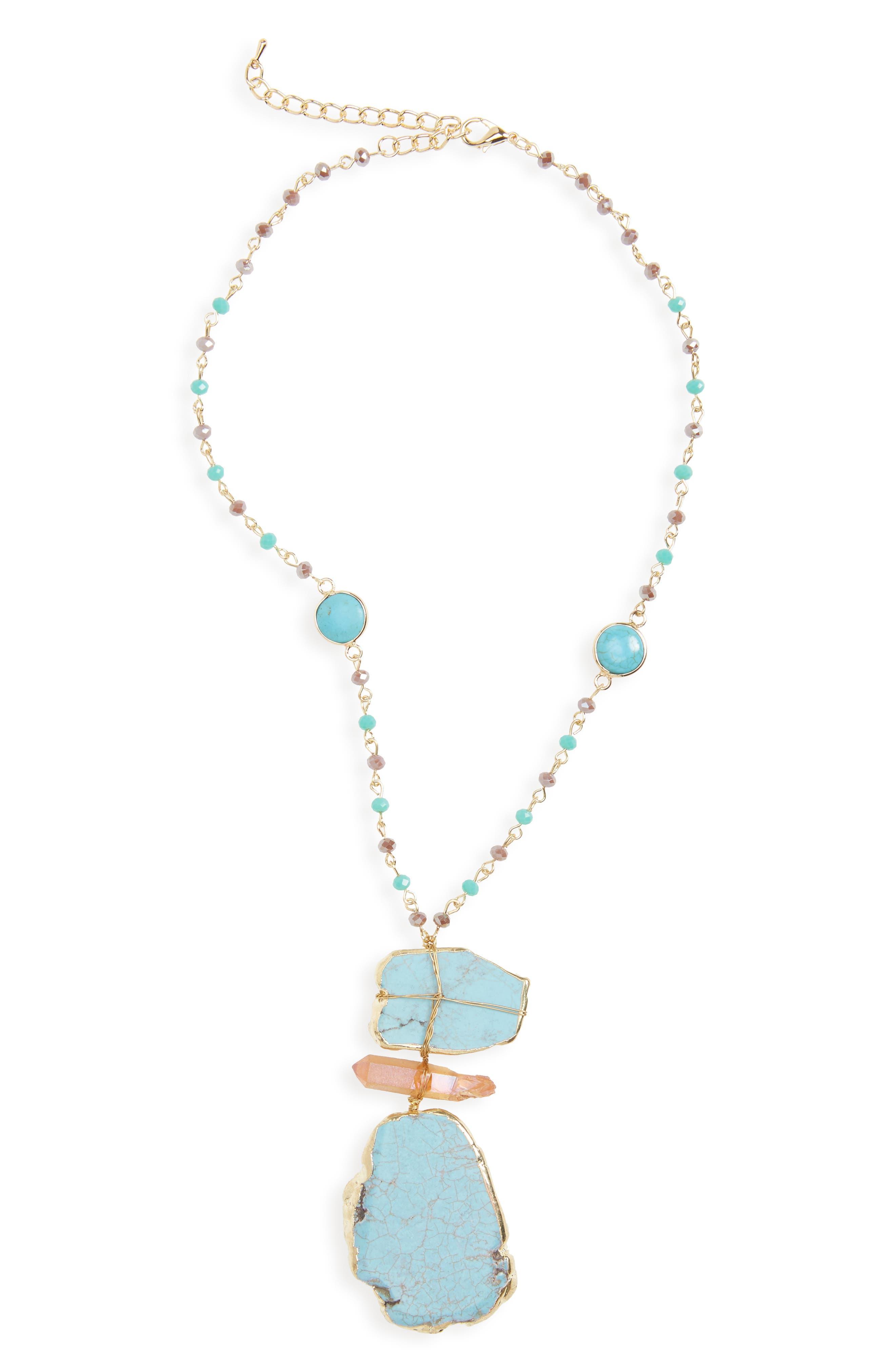 Panacea Howlite Pendant Necklace