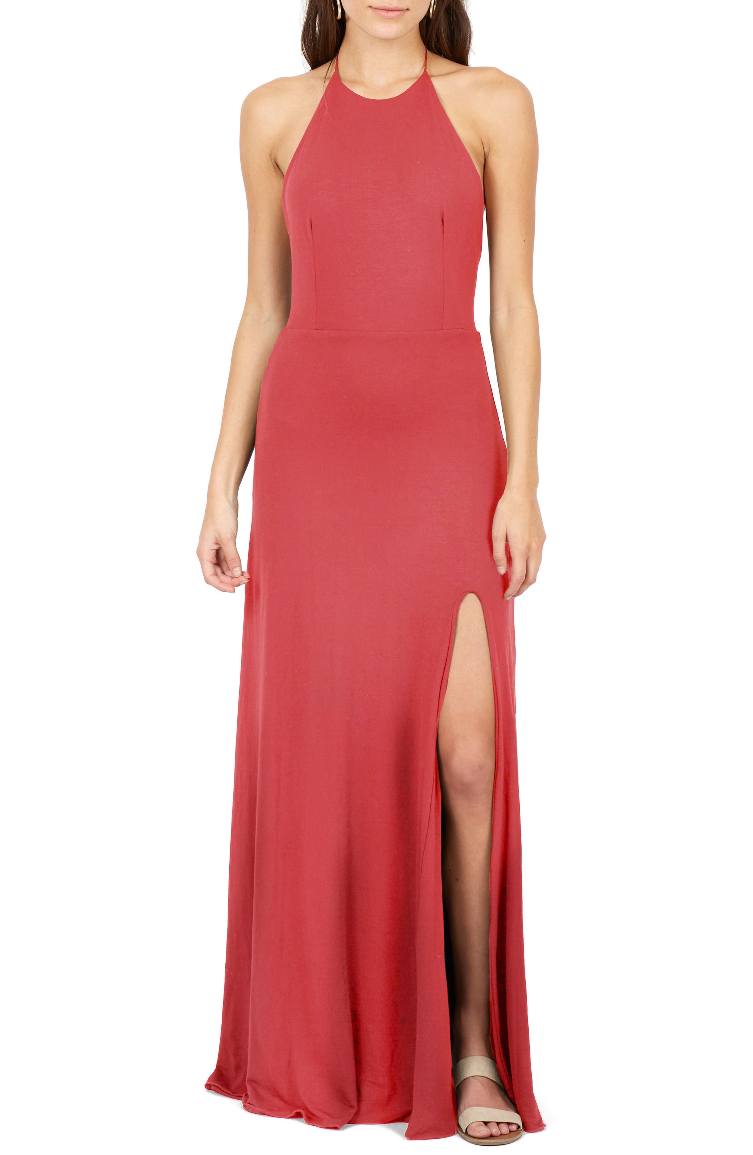 Delacy Nikki Halter Maxi Dress