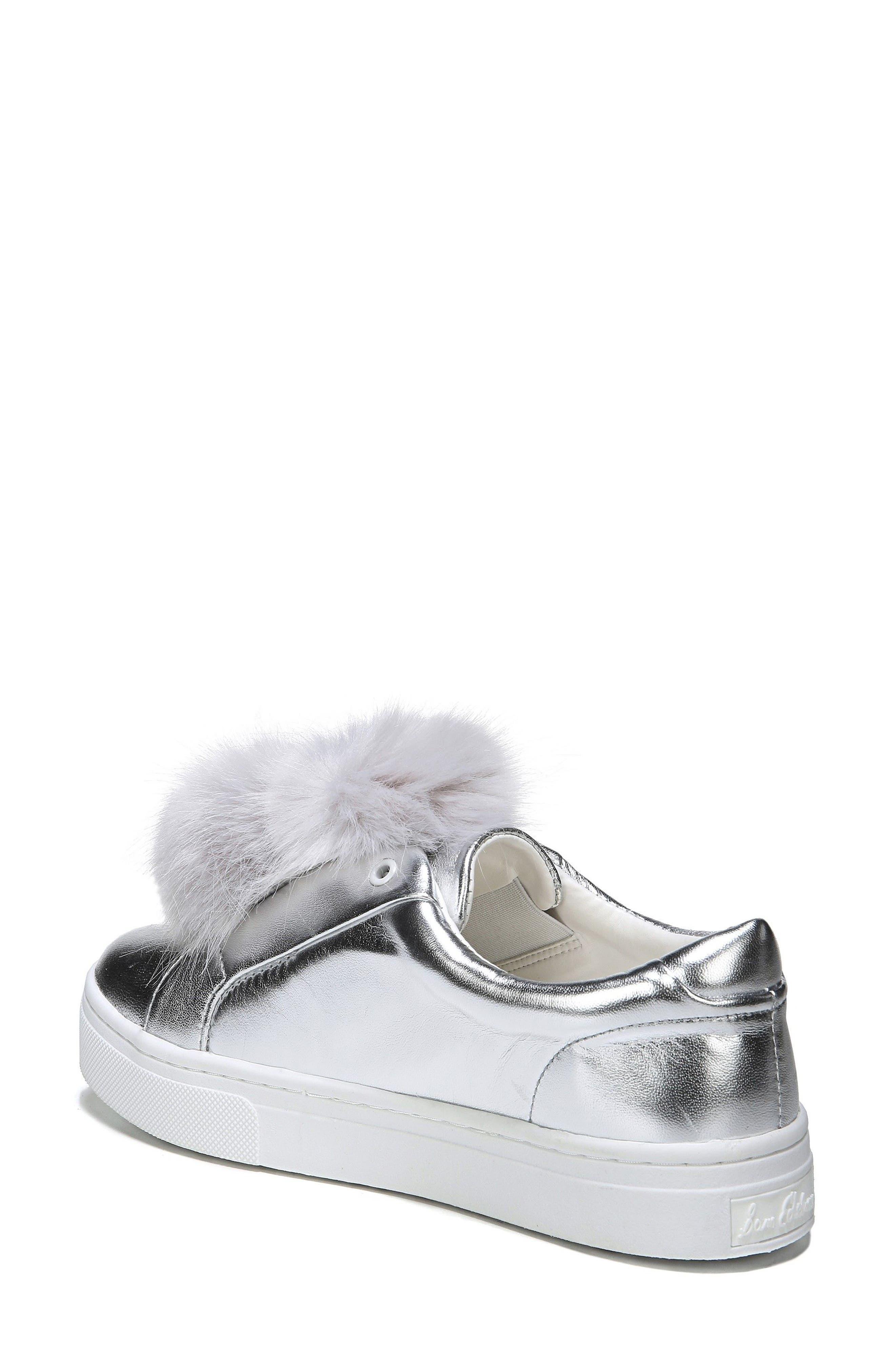 Alternate Image 2  - Sam Edelman 'Leya' Faux Fur Laceless Sneaker (Women)
