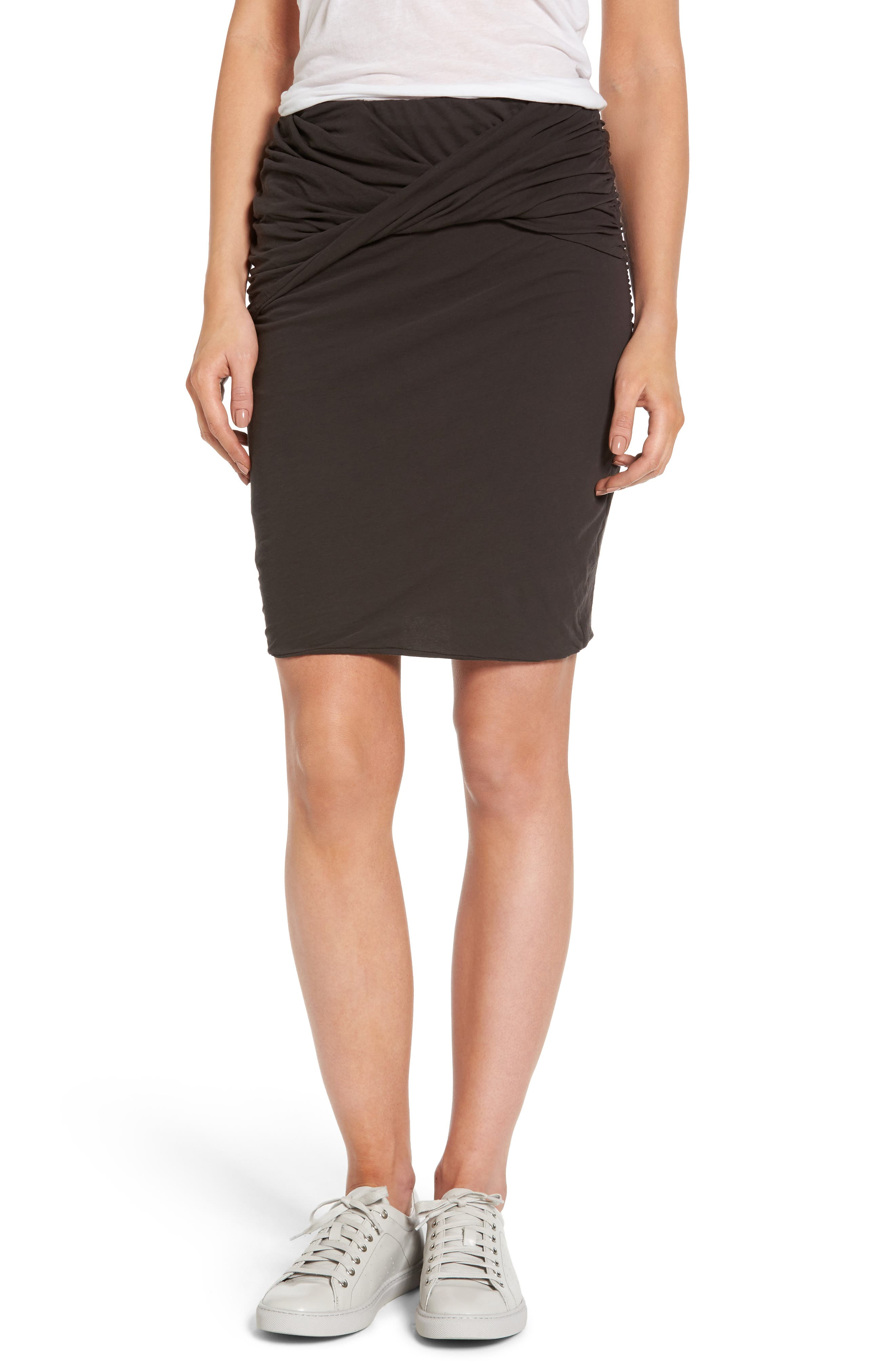 James Perse Twisted Drape Skirt