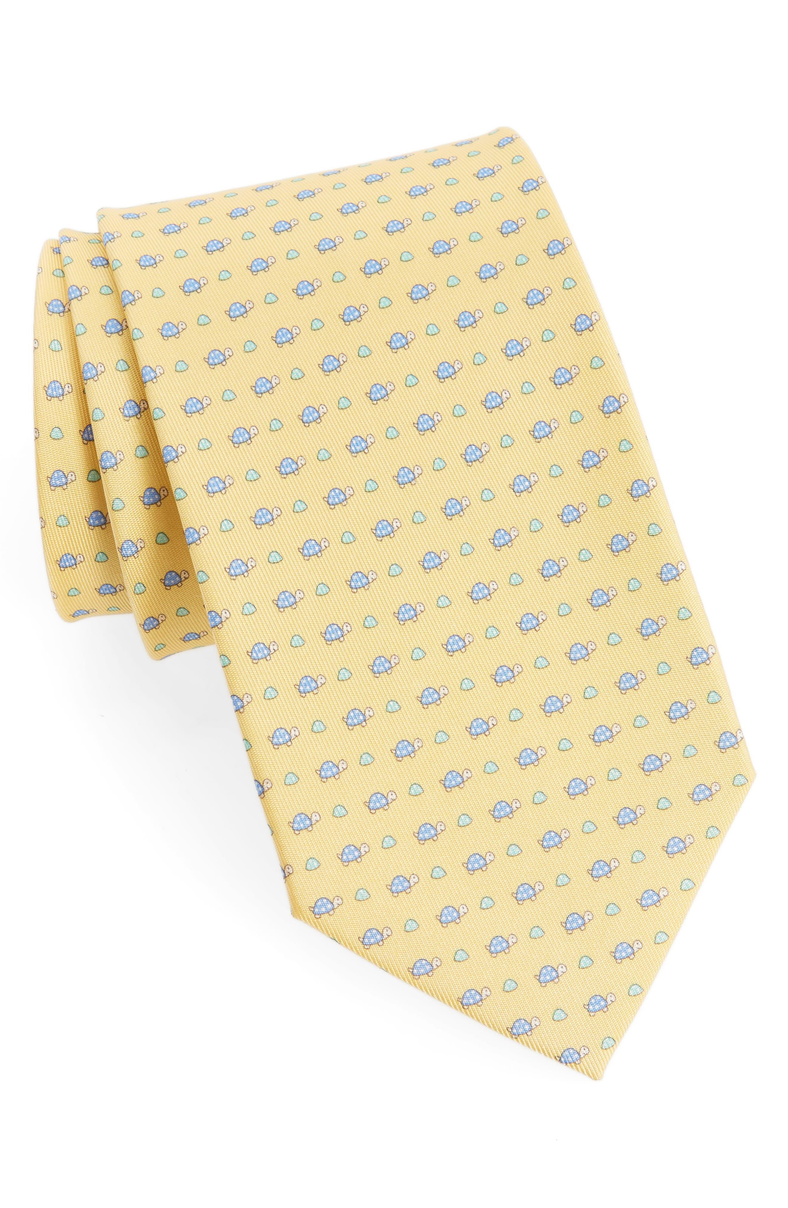 Salvatore Ferragamo Print Silk Tie