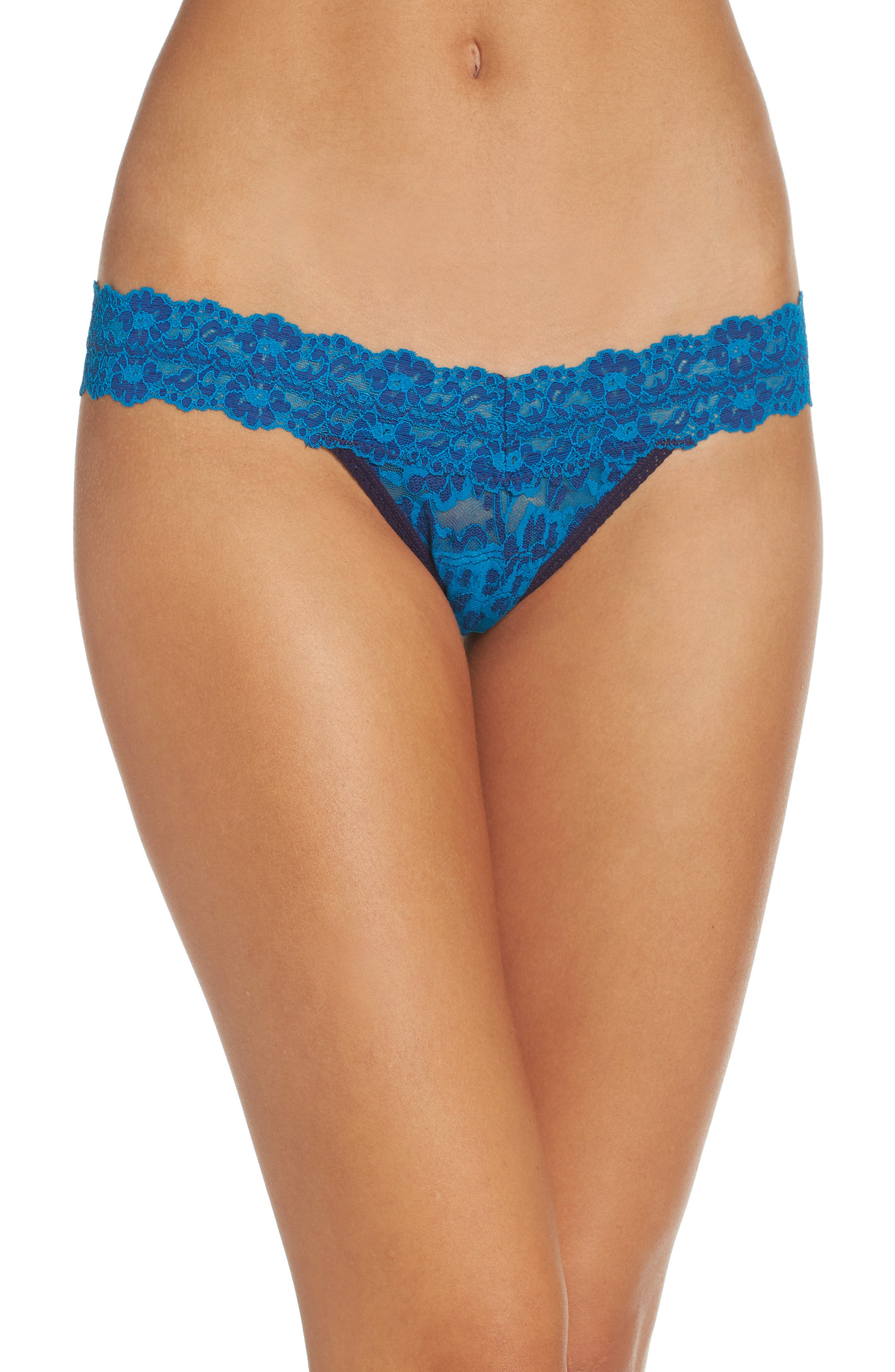 Alternate Image 1 Selected - Hanky Panky Cross Dyed Low Rise Thong